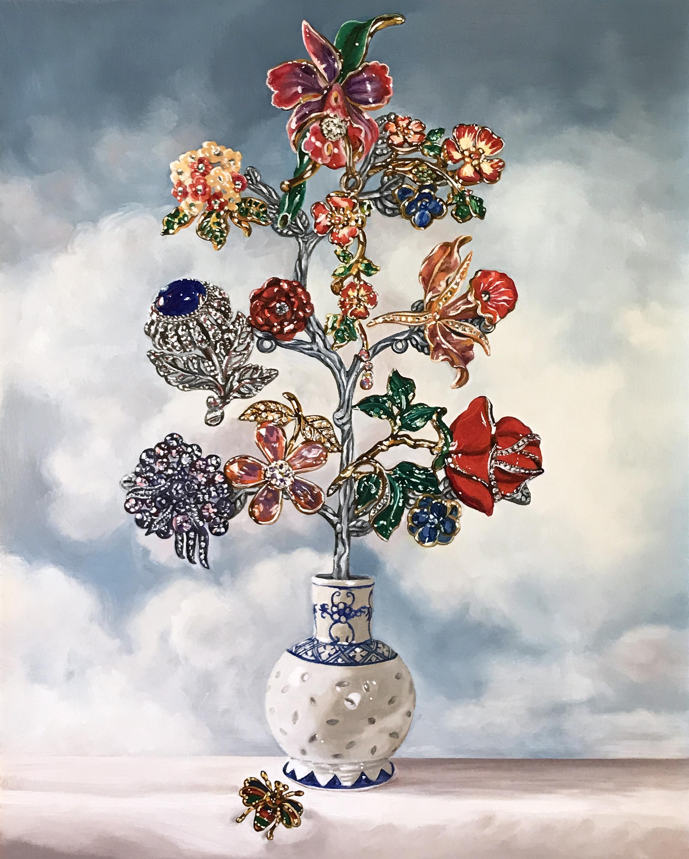 """Petit Dutch Floral ©2017 Oil on linen 20 x 16"""""""