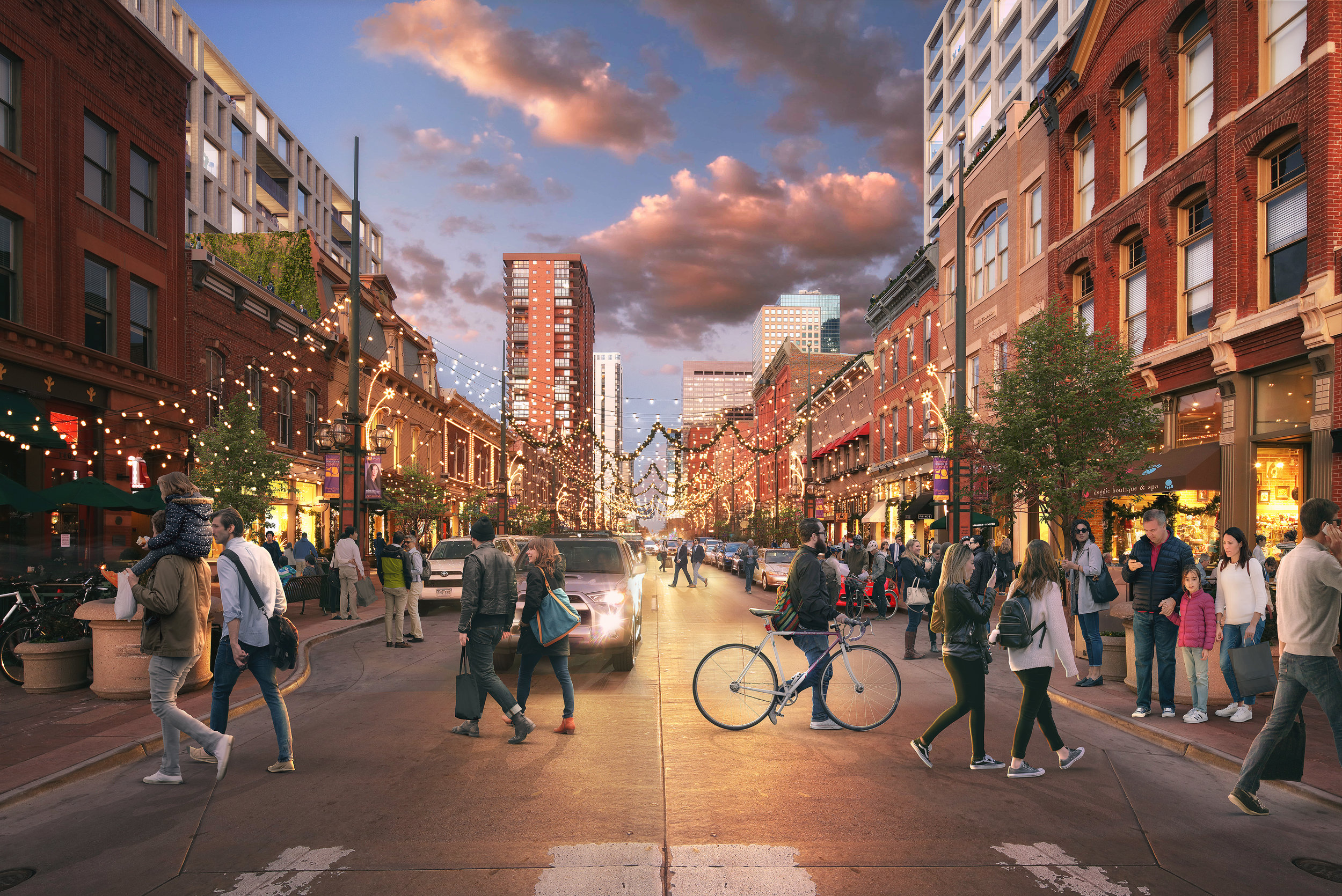 A rendering of Larimer Square