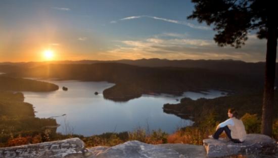 The beautiful Lake Jocassee.