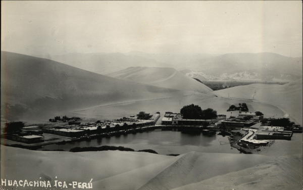 An old postcard from Huacachina