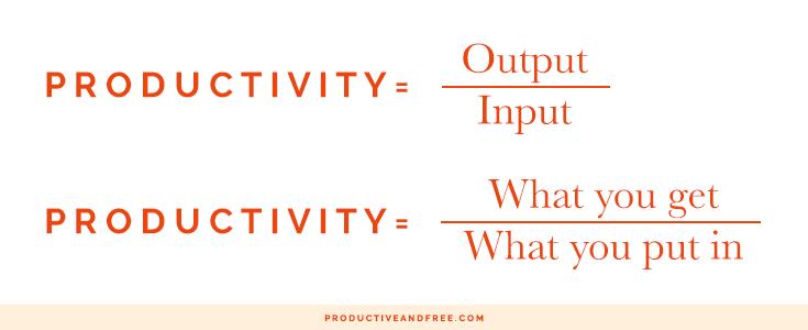 Productivity Formula | ProductiveandFree.com