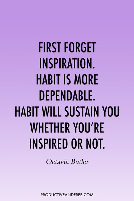 31 Quotes to Inspire Good Habits | ProductiveandFree.com