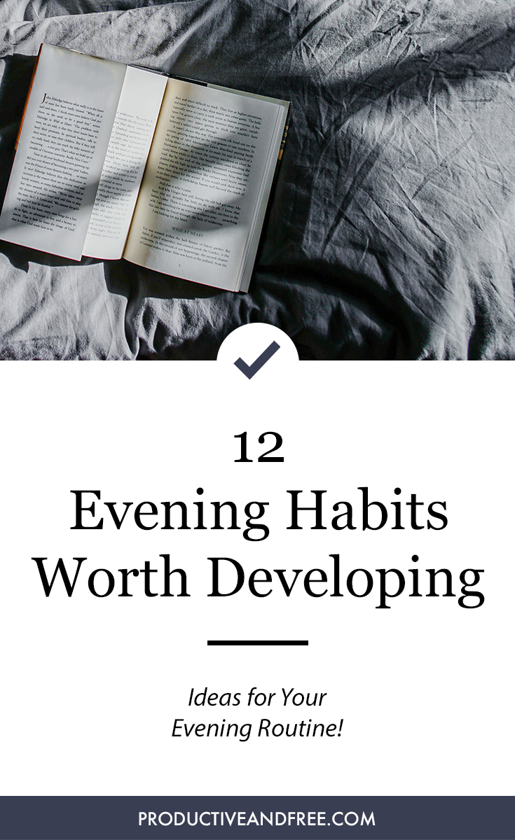 12 Evening Habits   Nightly Ritual   Bedtime Routine