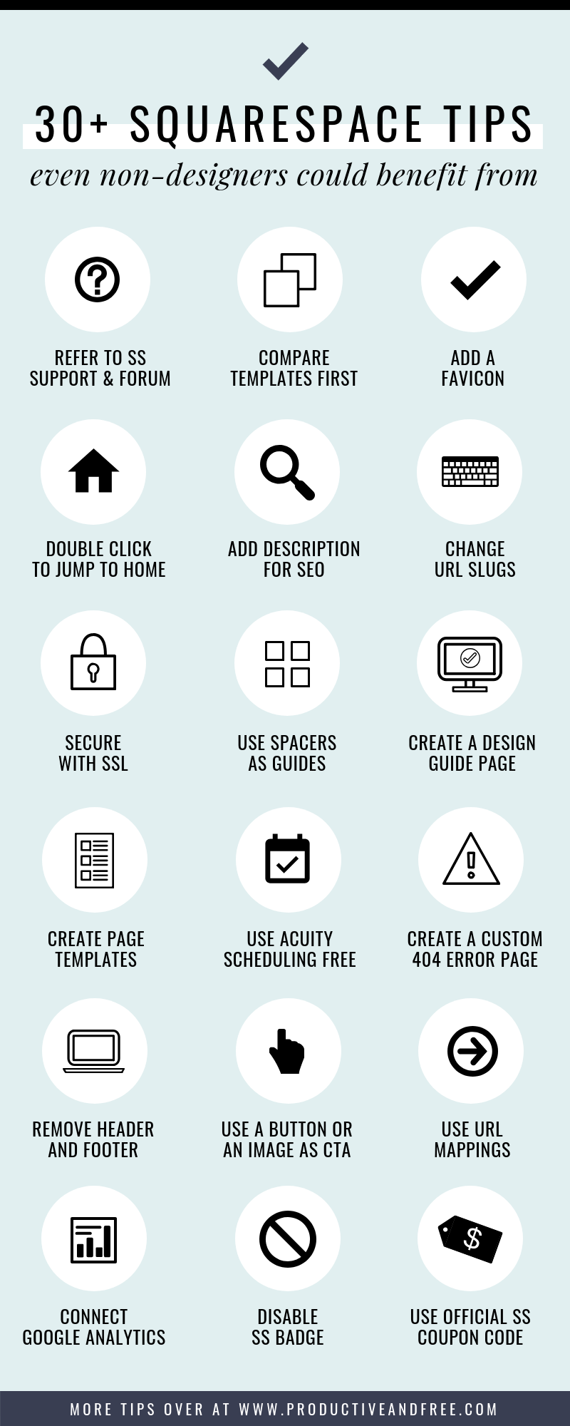 30+ Squarespace Tips and Tricks Even Non-Designers Could Benefit From | ProductiveandFree.com
