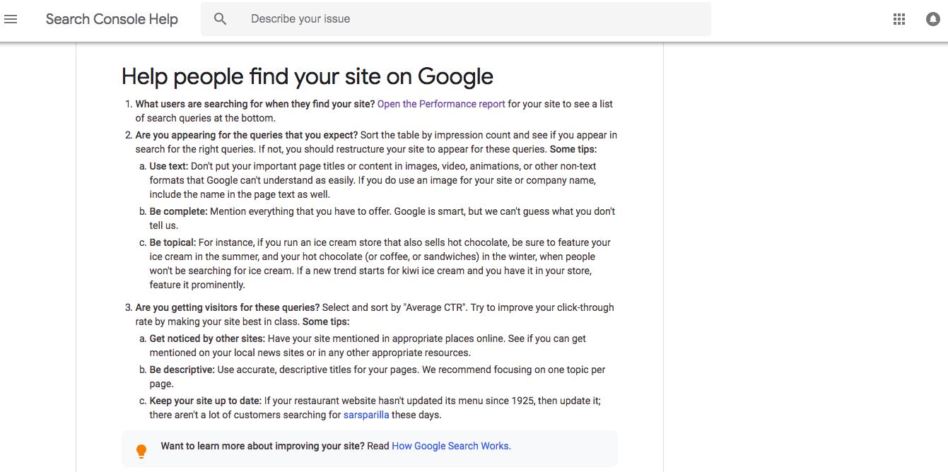 Google SEO Recommendations