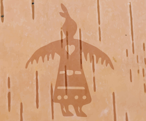 Share the Message of Thunderbird Woman - Get involved by sharing or recreating the message of Thunderbird Woman, whose heart shows us that love is at the center of healing and tending to the waters. She was first drawn by Anishinaabe artist and storyteller Isaac Murdoch who co-organizes the Onaman Collective. Anyone is welcome to use open access files for:Printing posters or stickers.Screenprinting posters, banners, or shirts.Holding screenprinting workshops.Holding fabric painting workshops.Beading, crocheting, or sewing.