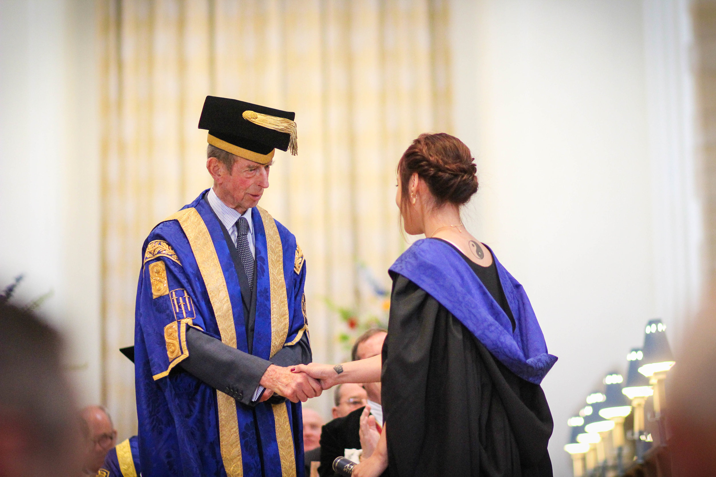 Shaking hands with HRH Duke of Kent