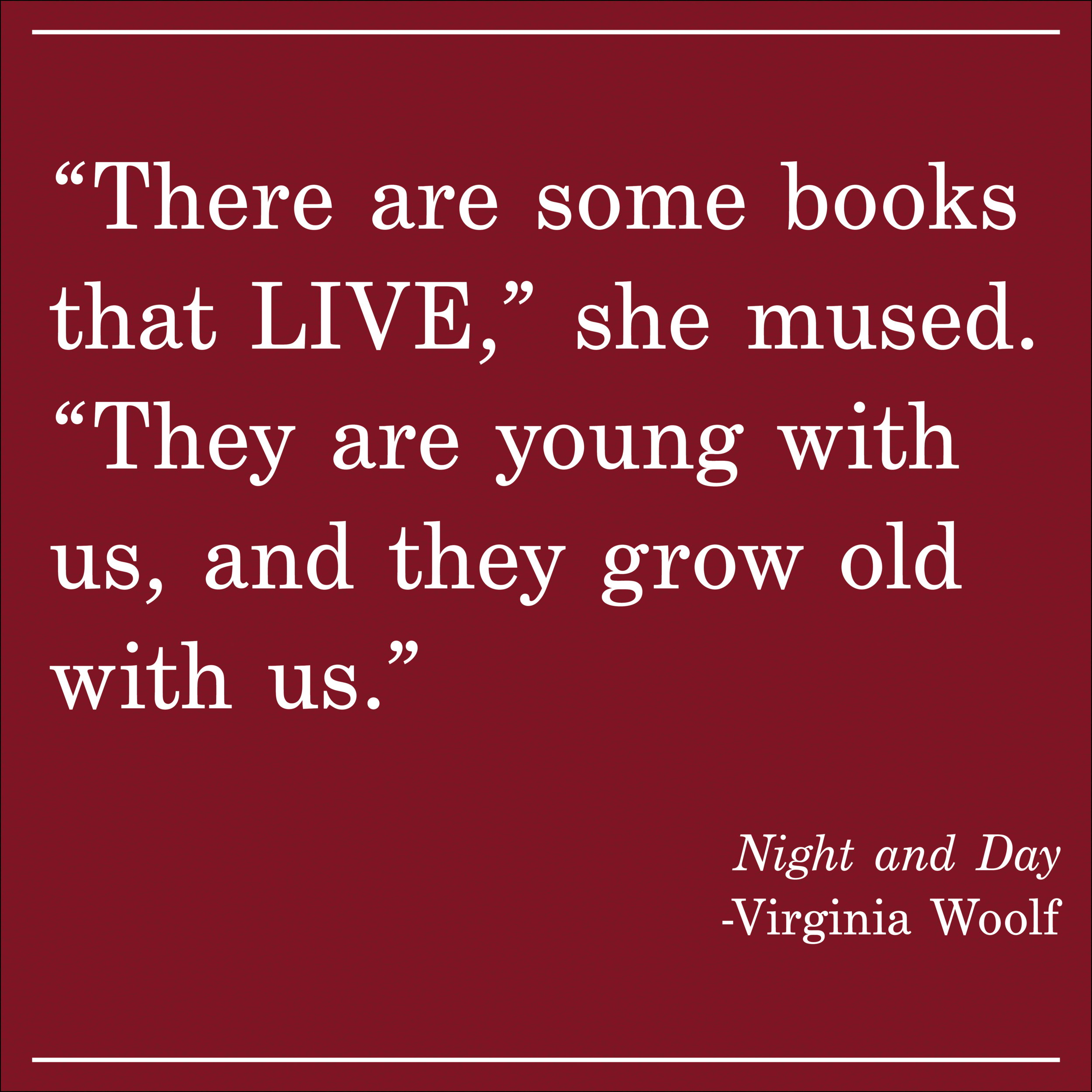 Daily Quote Virginia Woolf Night and Day