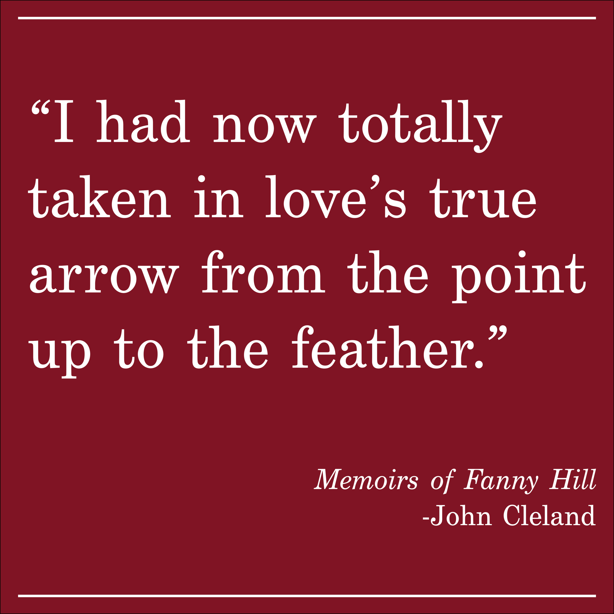 Daily Quote John Cleland Memoirs of Fanny Hill