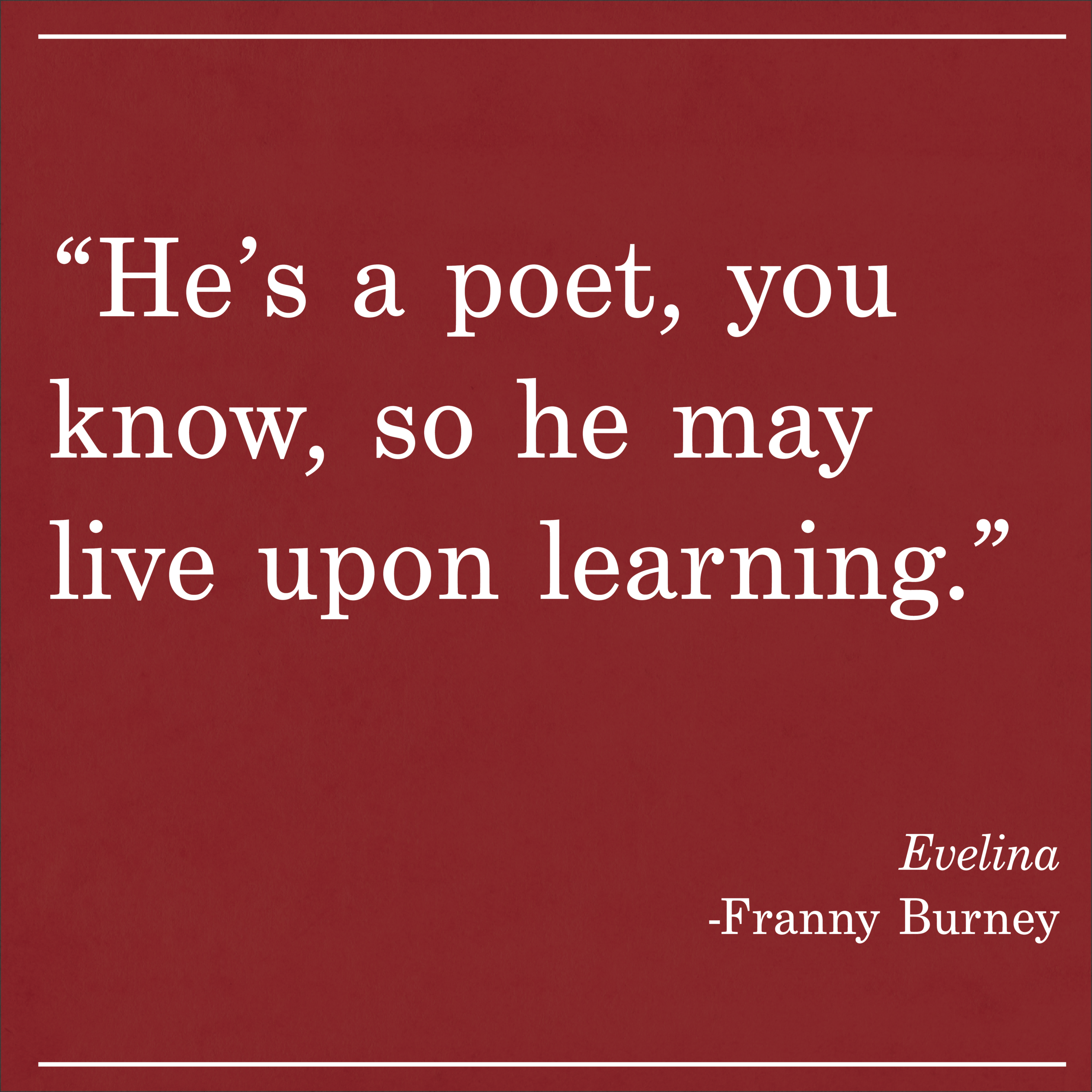 Daily Quote Evelina Franny Burney