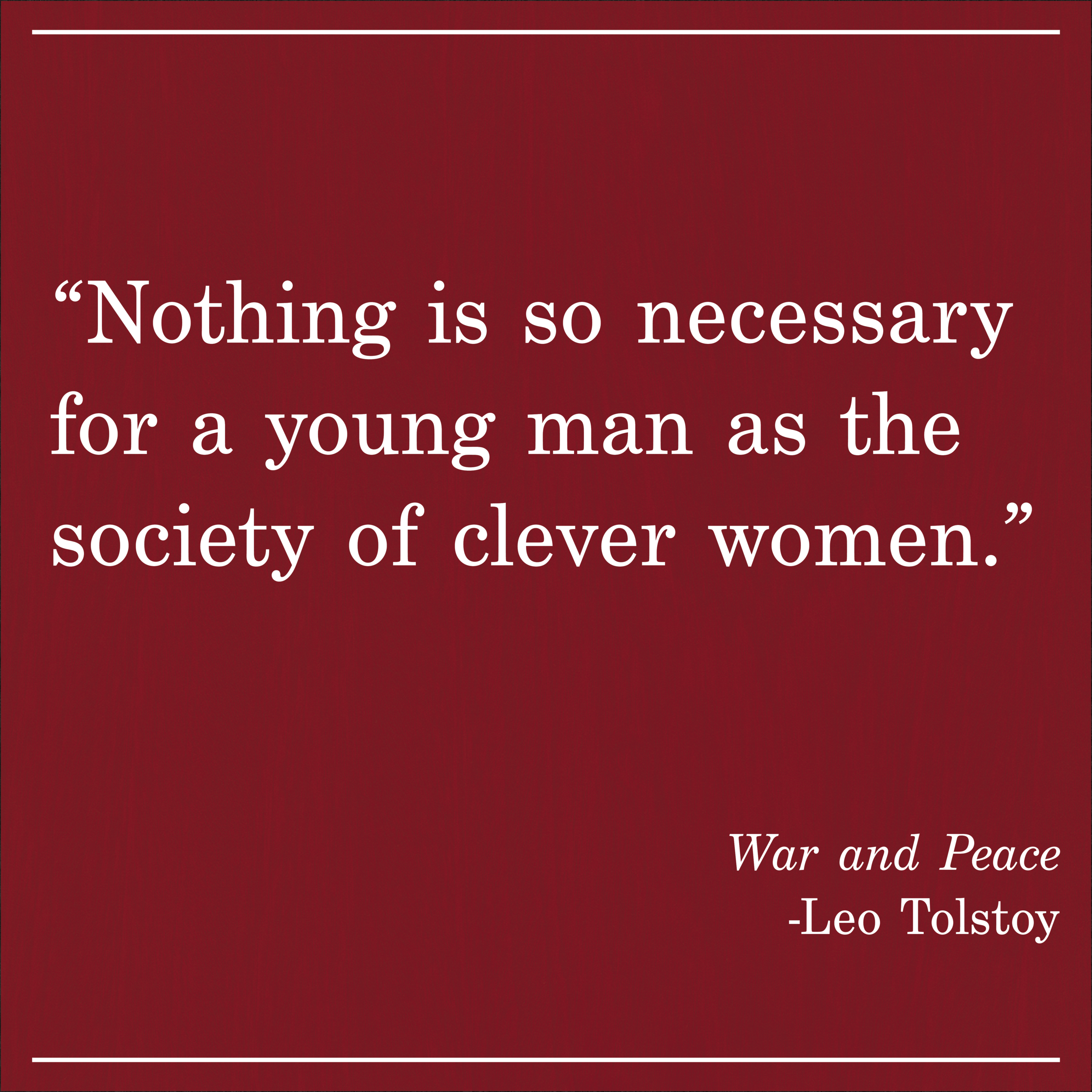 Daily Quote War and Peace Leo Tolstoy