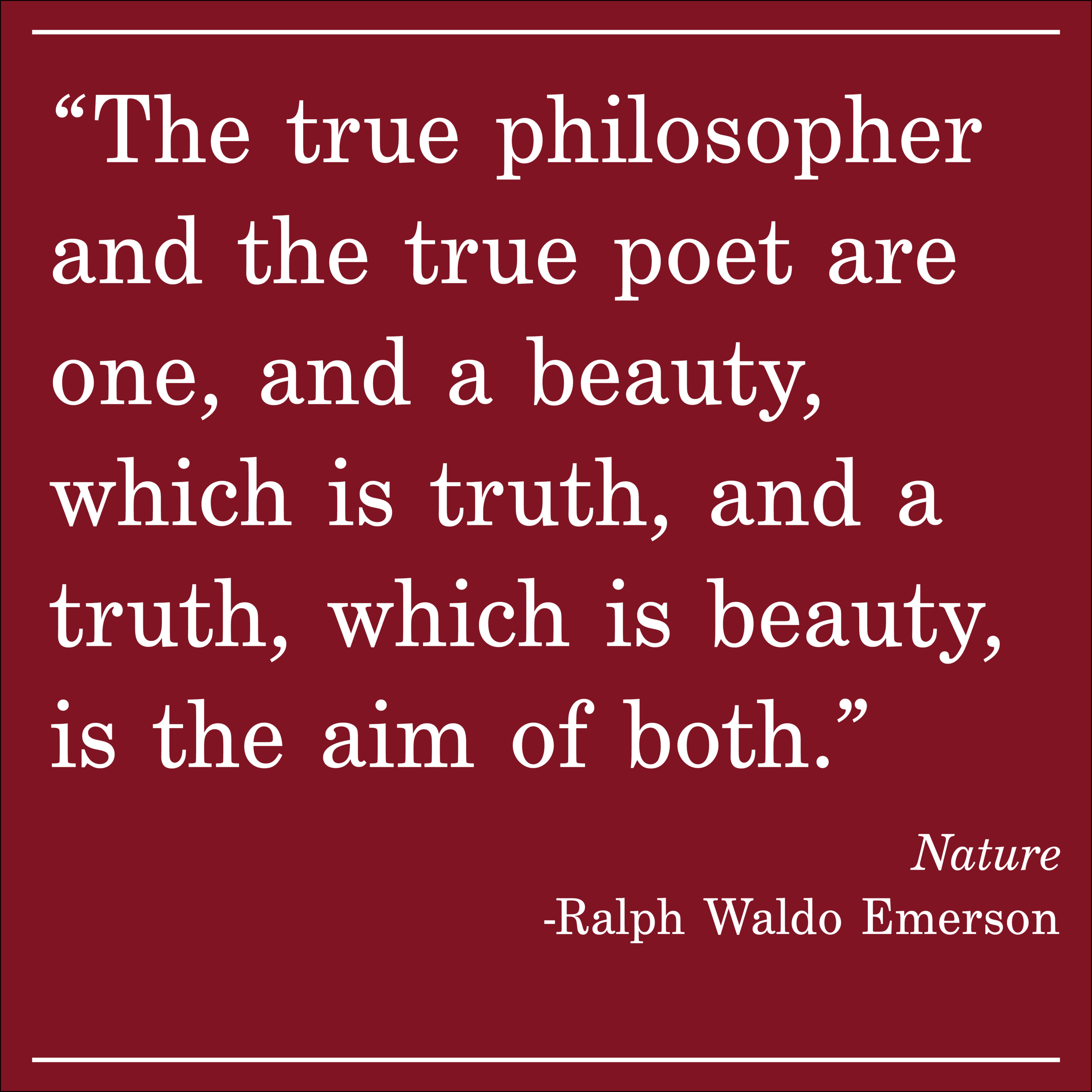 Daily Quote Ralph Waldo Emerson Nature