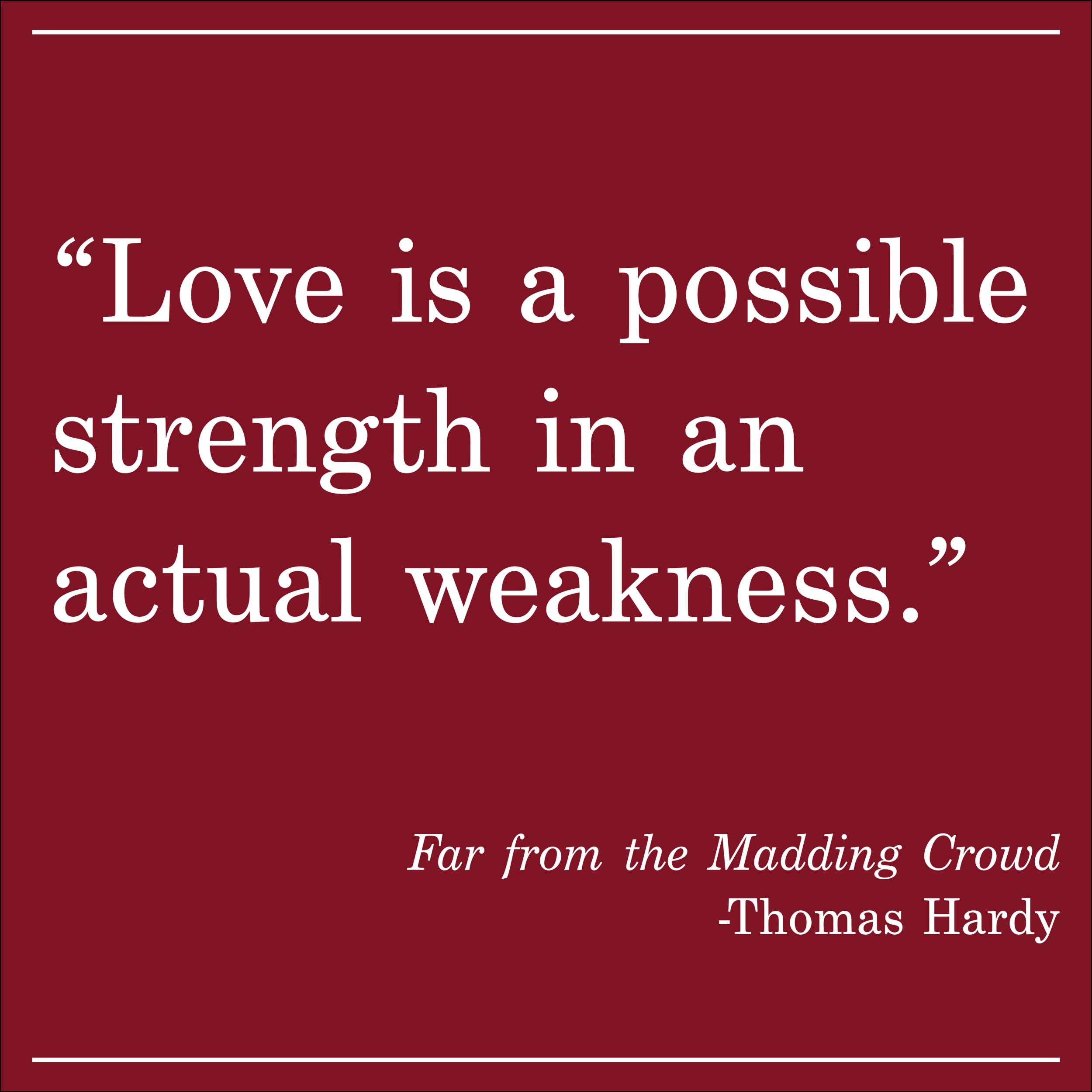Daily Quote Far From the Madding Crowd by Thomas Hardy