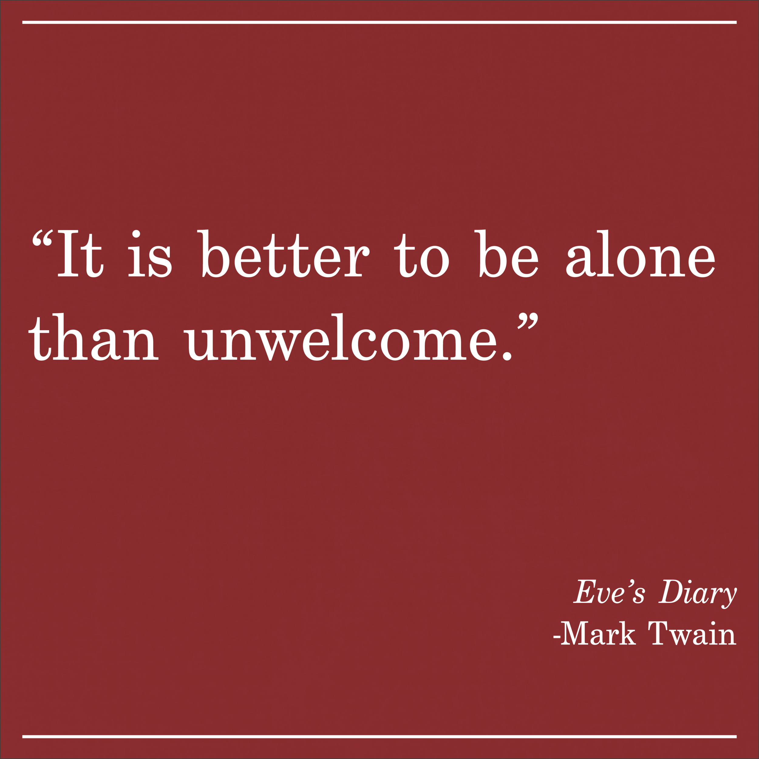 Daily Quote Eve's Diary by Mark Twain