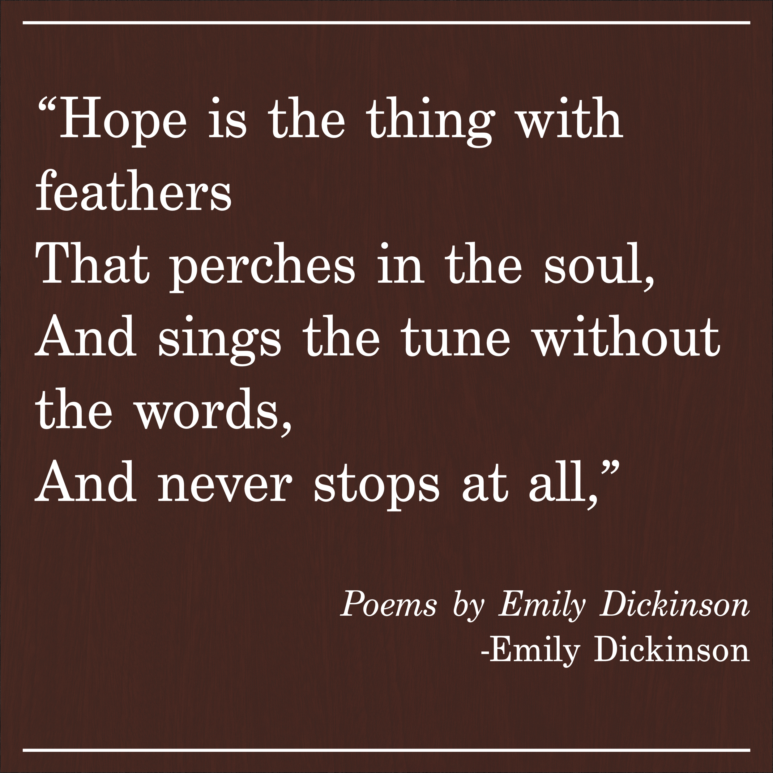 Daily Quote Poems by Emily Dickinson
