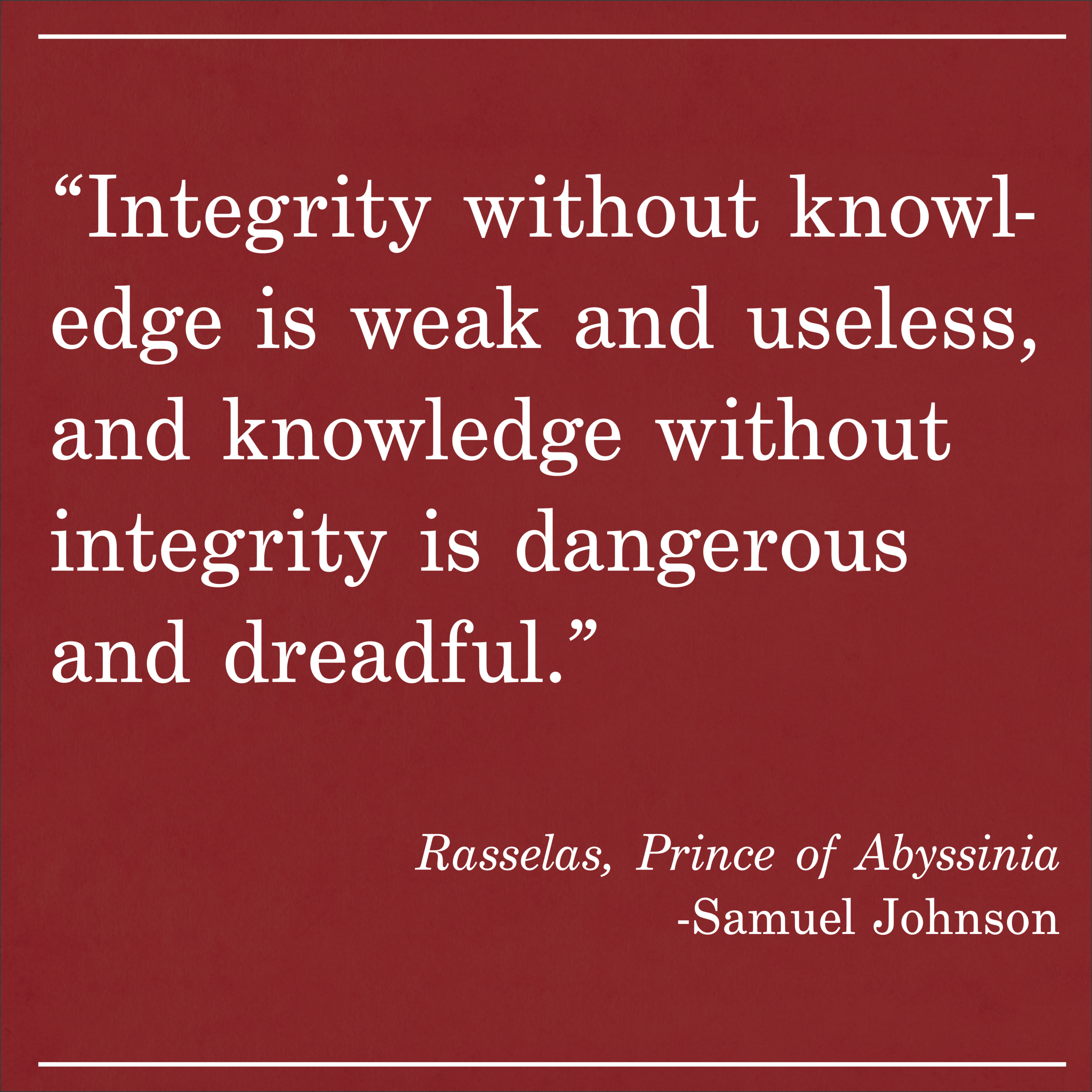 Daily Quote Rasselas by Samuel Johnson