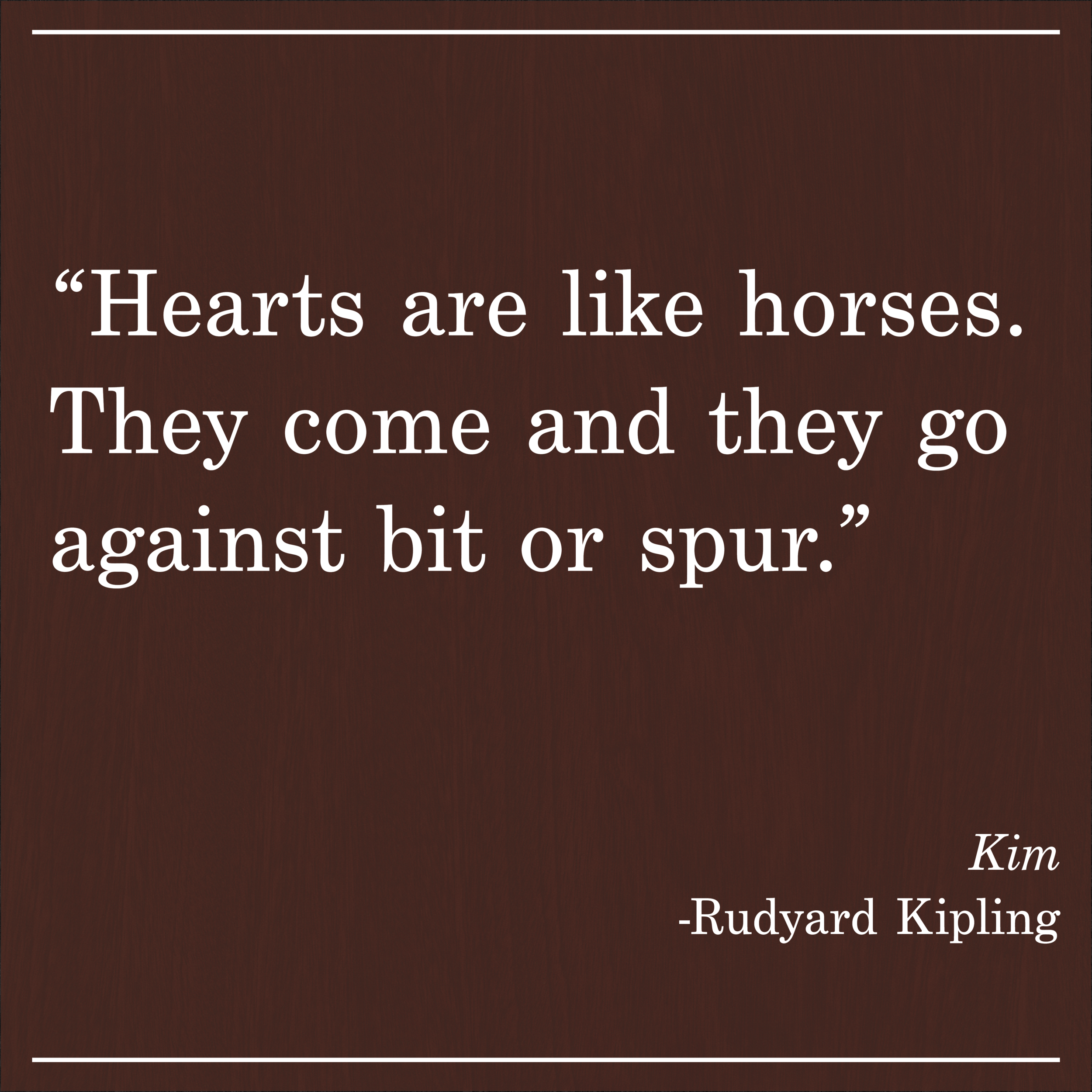 Daily Quote Kim by Rudyard Kipling