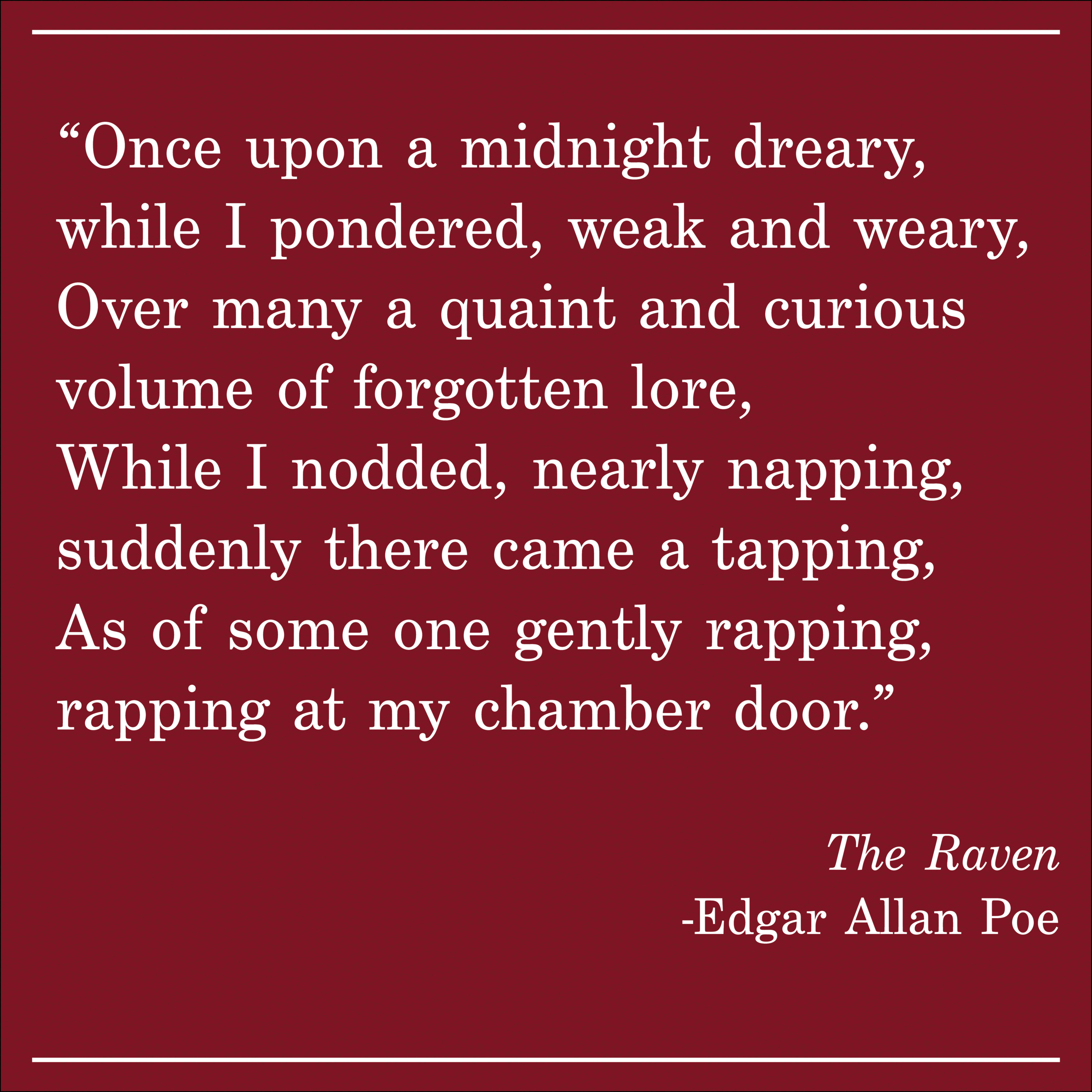 Daily Quote The Raven by Edgar Allan Poe