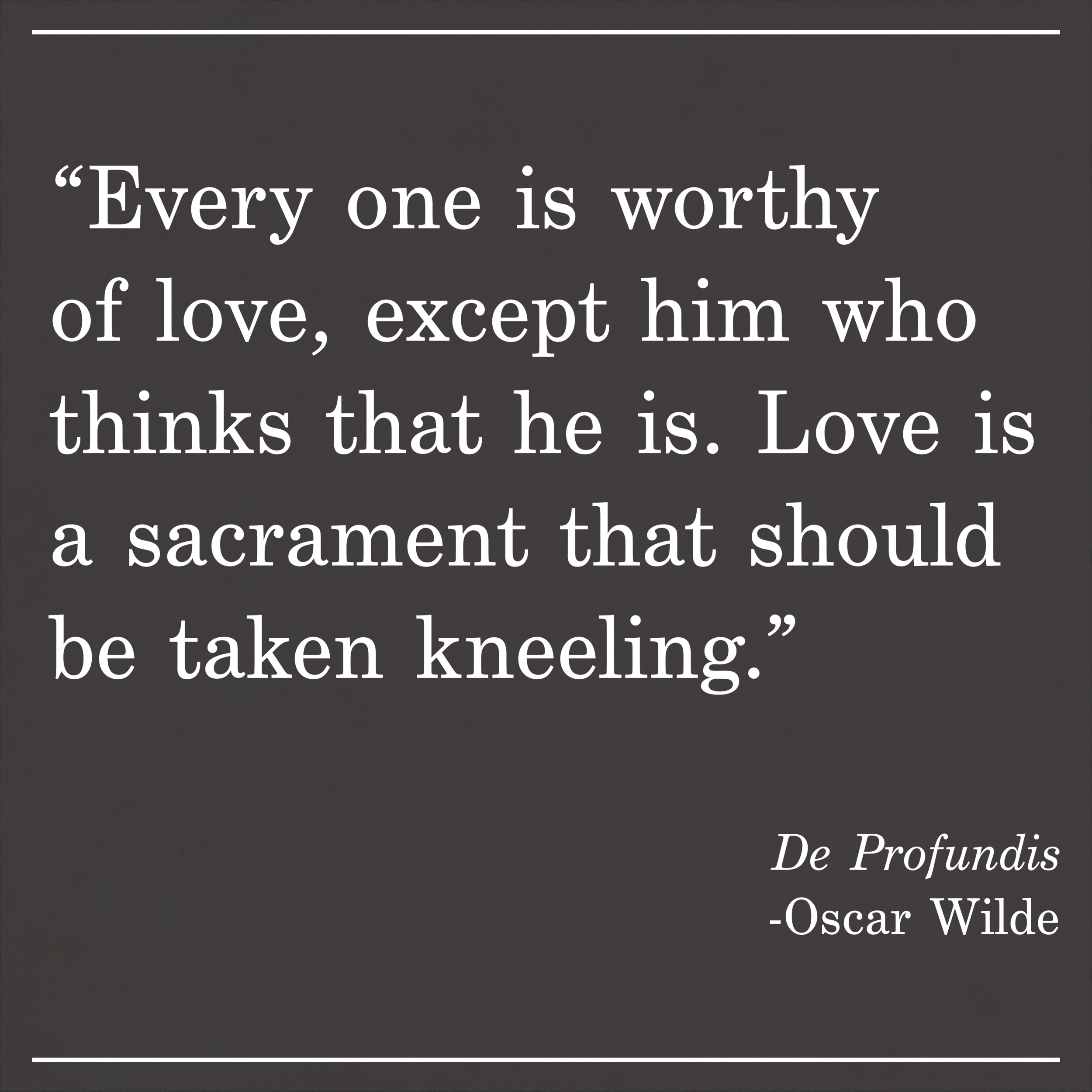 Daily Quote De Profundis by Oscar Wilde