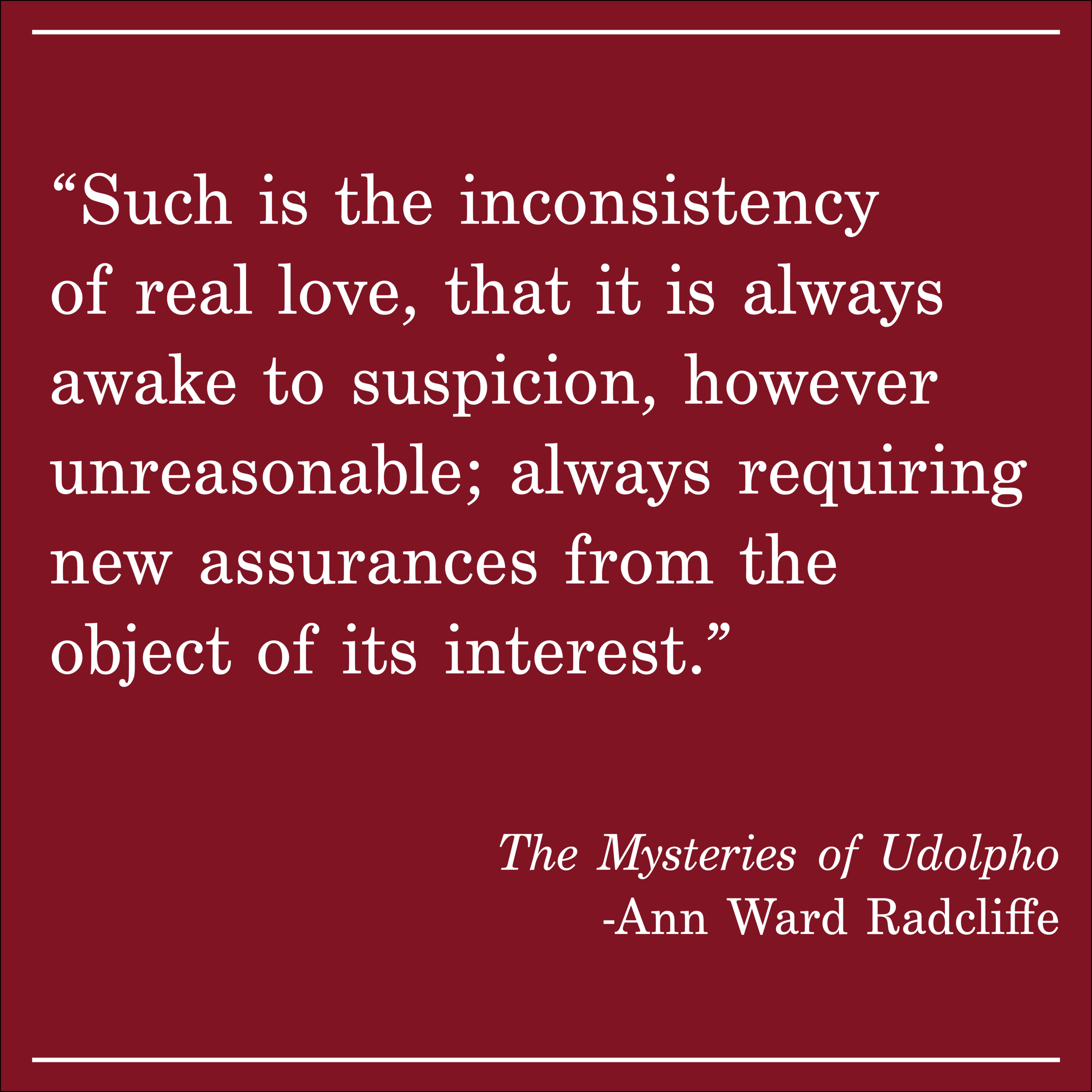 Daily Quote The Mysteries of Udolpho by Ann Ward Radcliffe