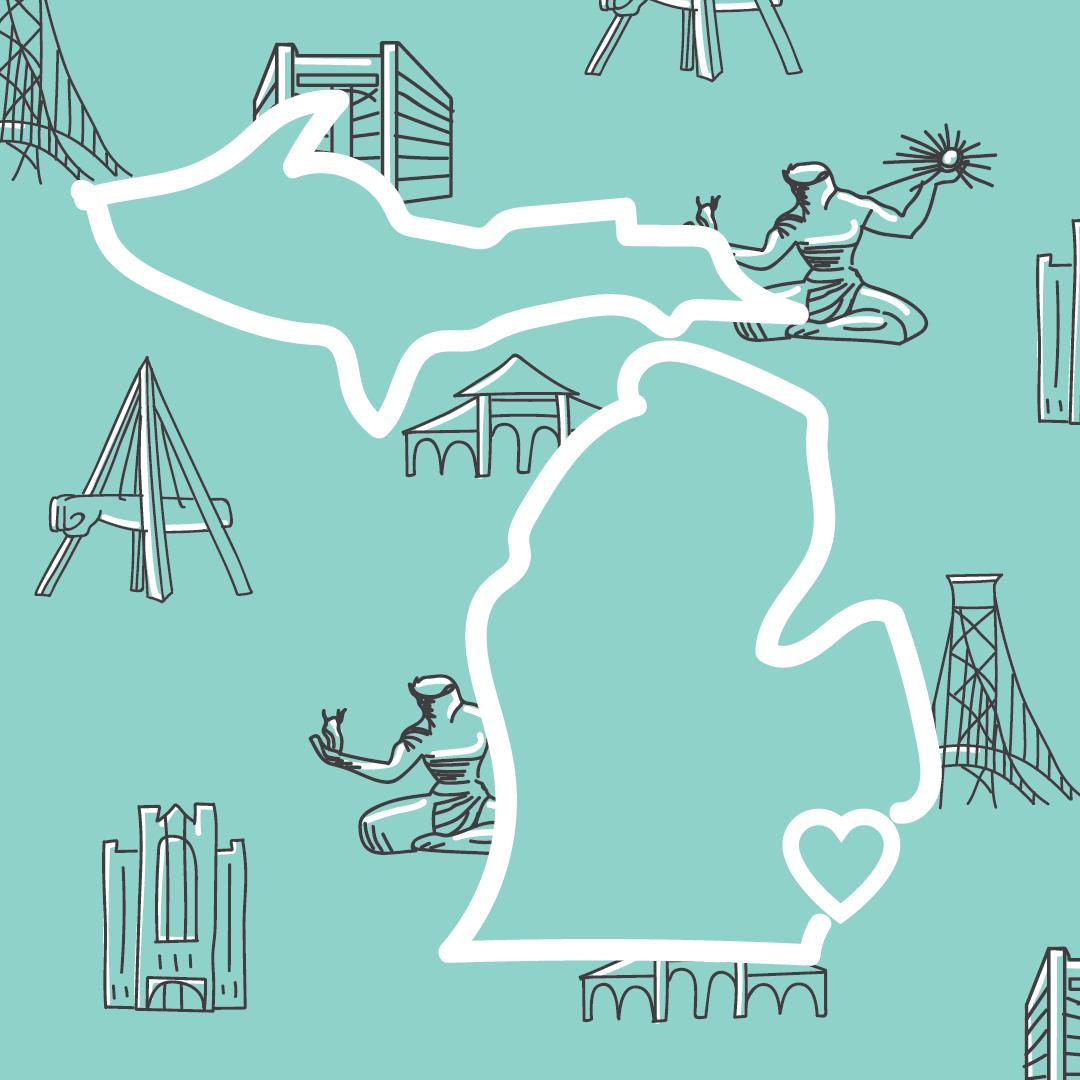 Detroit is Love Illustration   Tools Used: Pencil Sketch, Adobe Illustrator