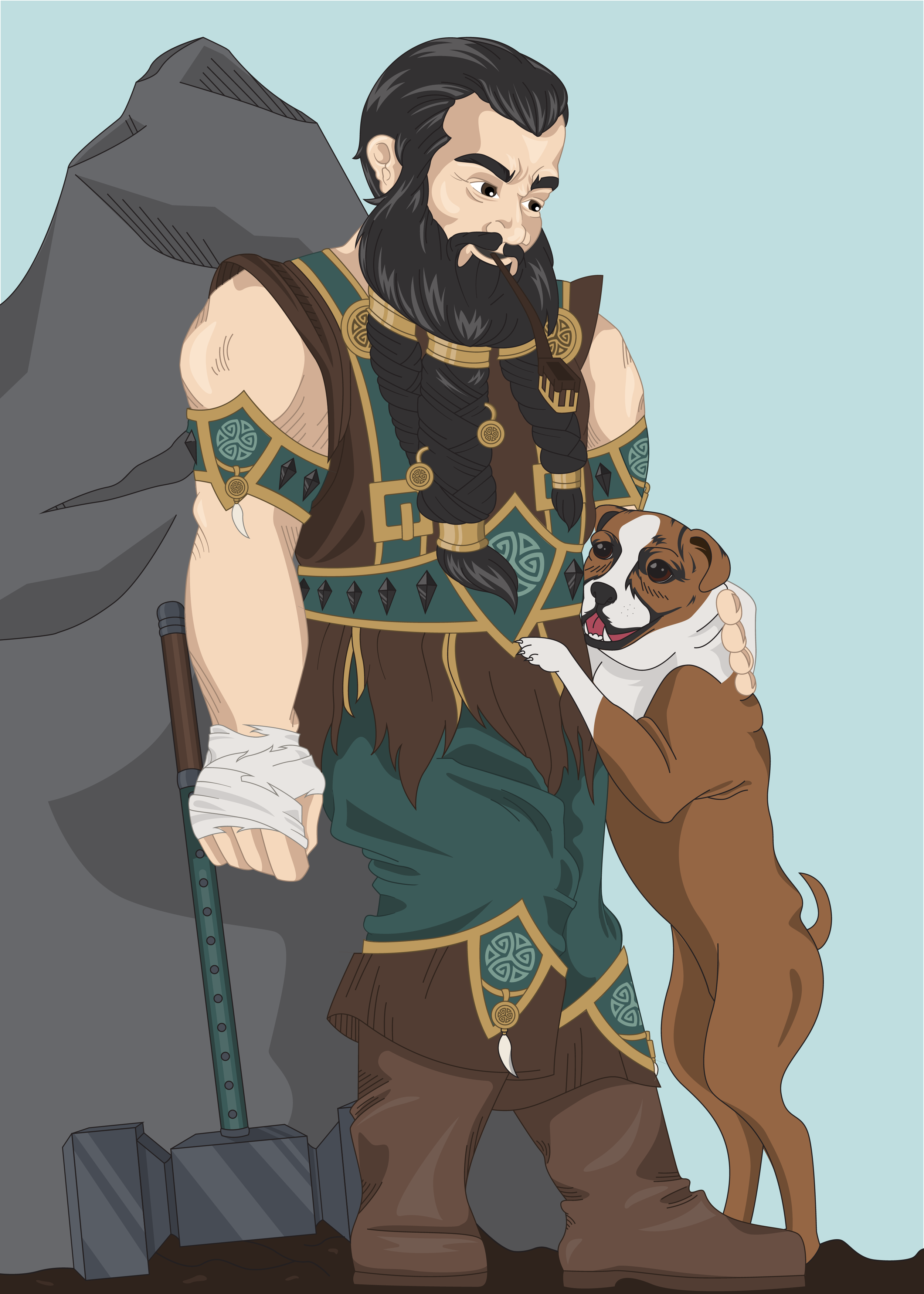 Dungeons and Dragons Character Illustration Commission   Tools Used: Pencil Sketch, Adobe Illustrator