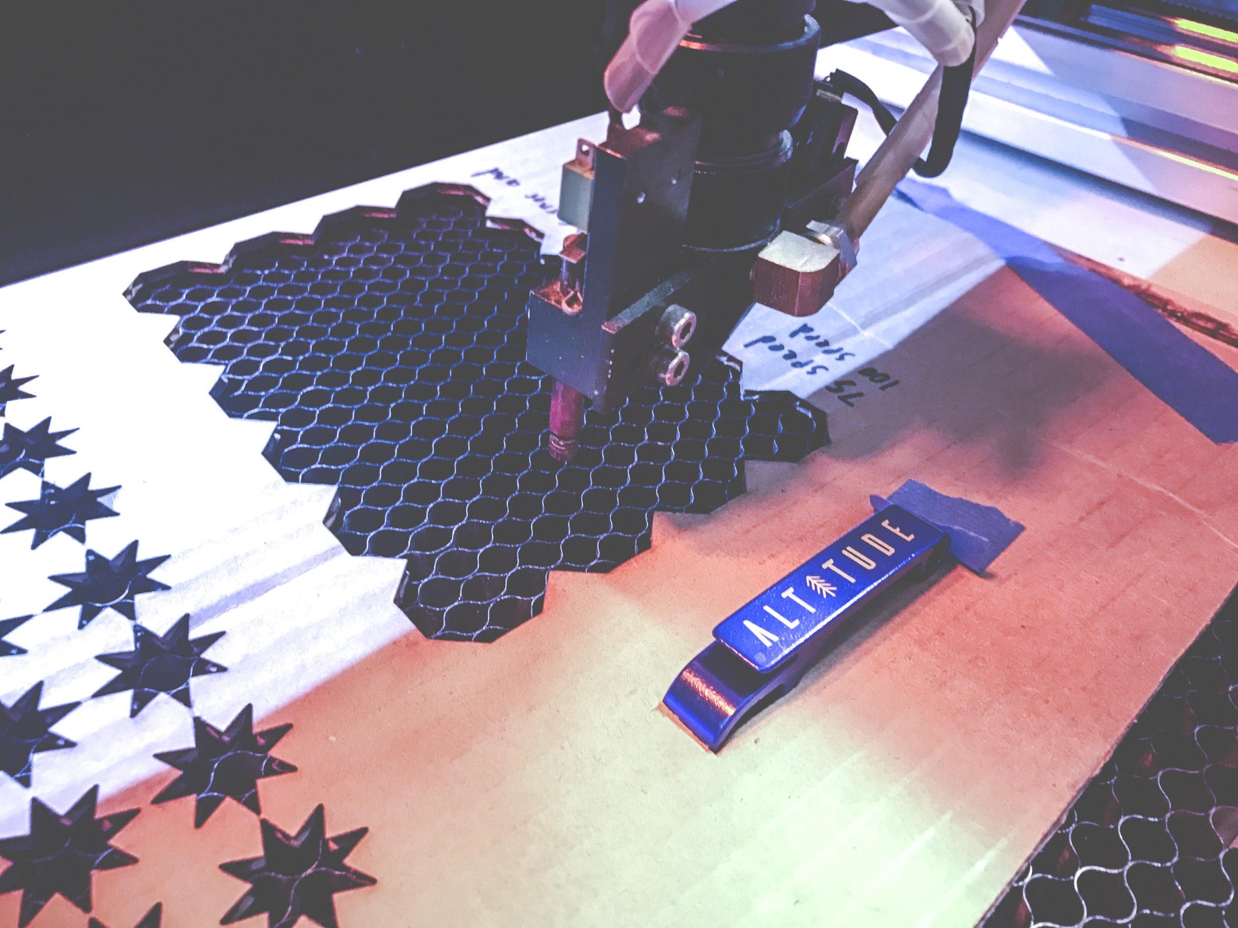 Laser Cut Anodized Aluminum Keychain
