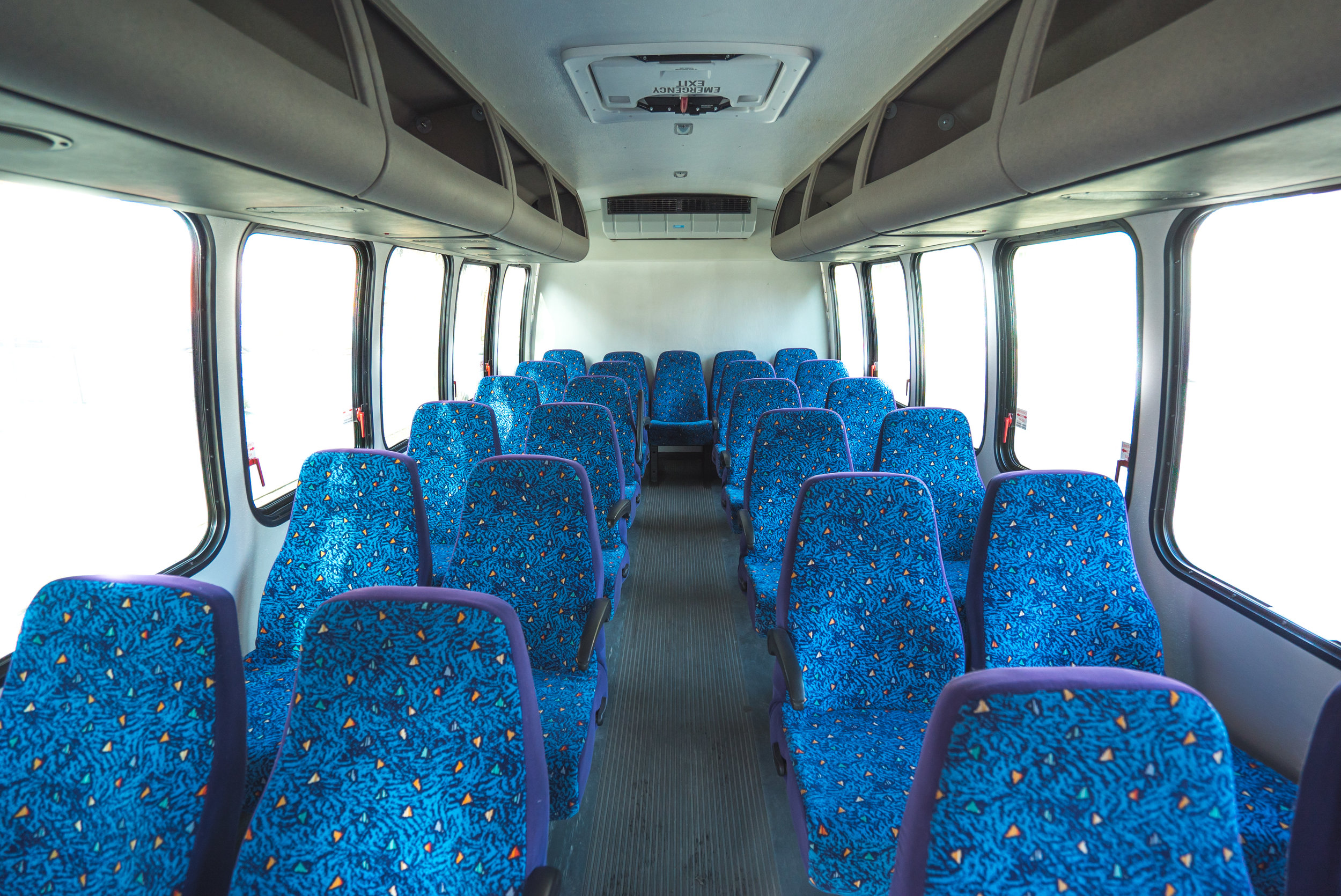 Our own 24 passenger bus. We can hire coaches up to 56 persons for your group along with a walk on guide to give a tour of Edmonton.