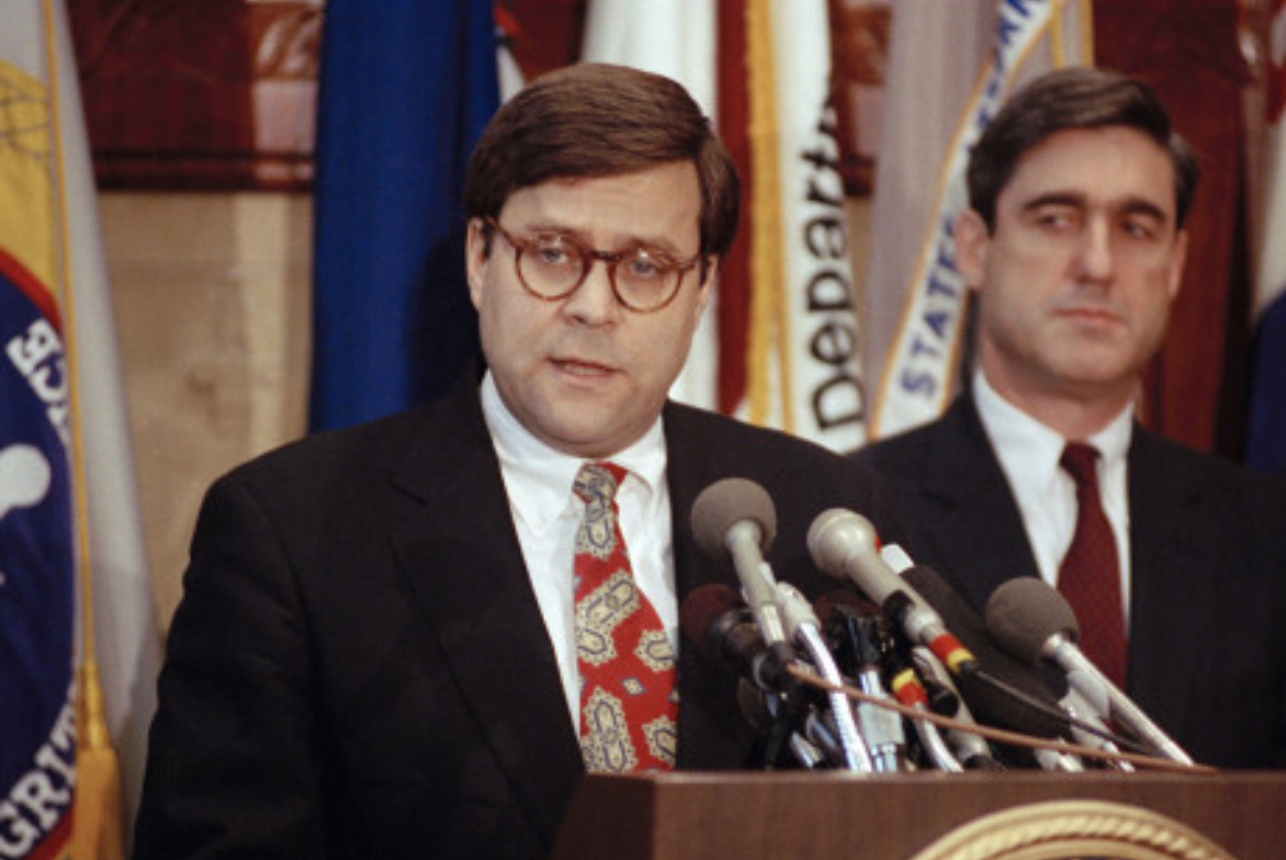 Attorney General Robert Barr and Assistant Attorney General Robert Mueller in 1991.