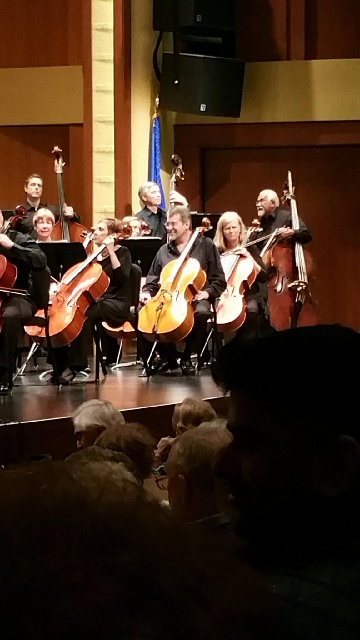 Hartford Symphony Orchestra Cello Section at Belding Theater at The Bushnell in Hartford CT
