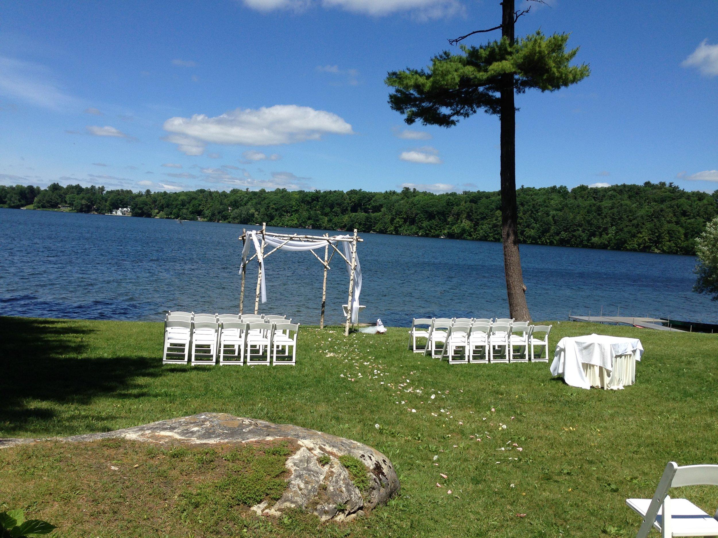 Waterside Ceremony at Interlaken Inn in Lakeville CT