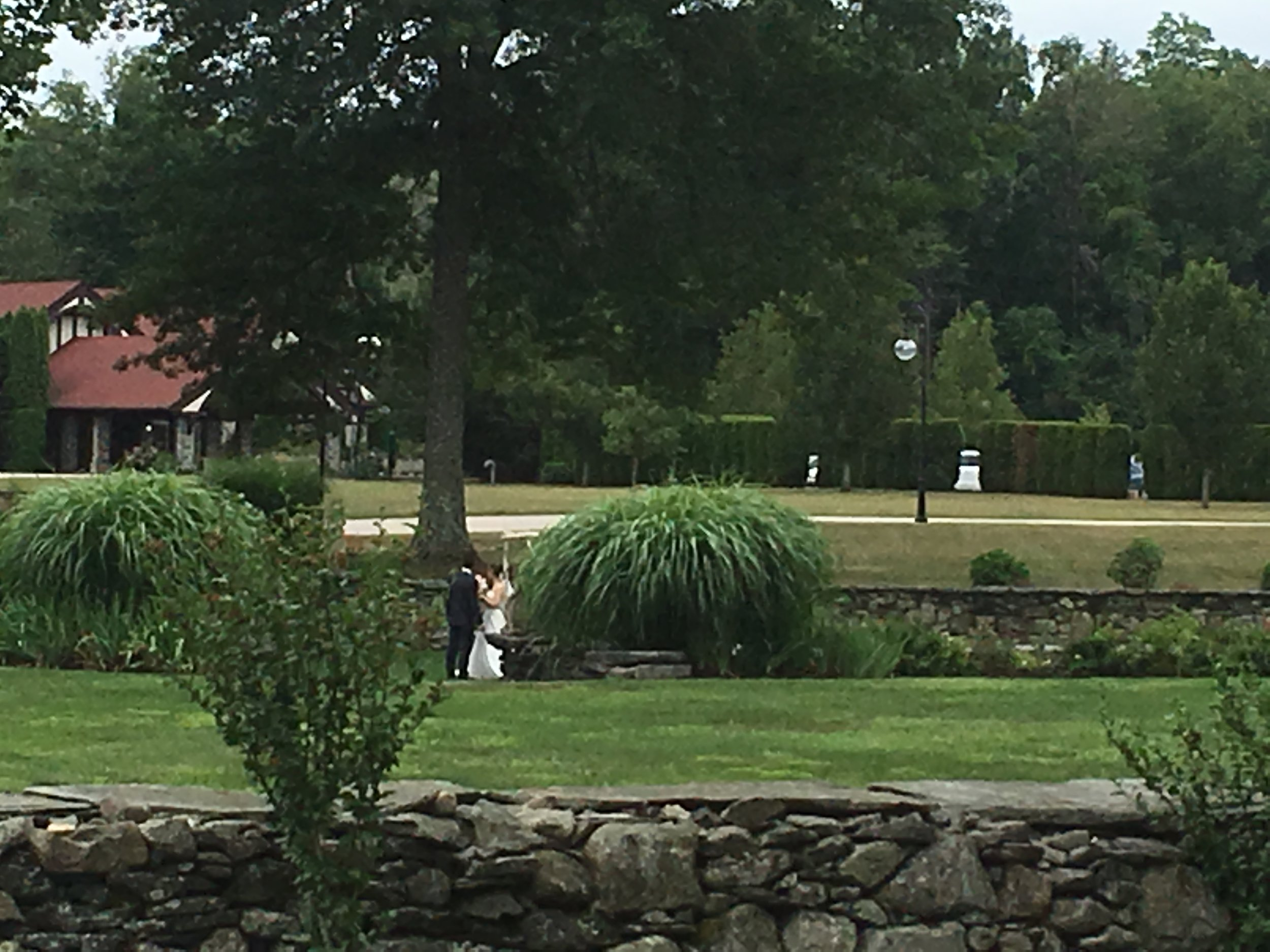 Sunken Garden at St. Clements Castle in Portland CT