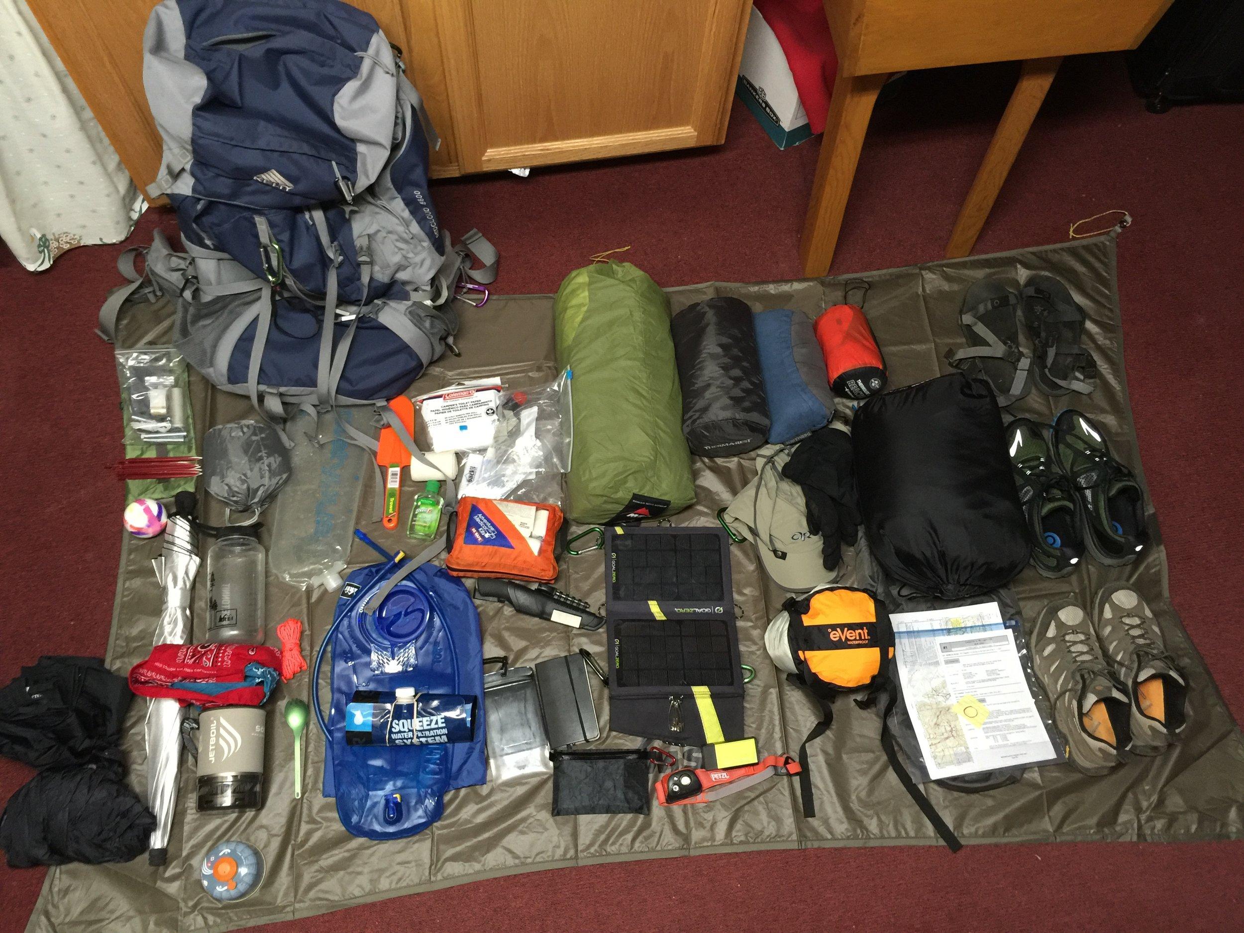 Starting Equipment - PCT 2016