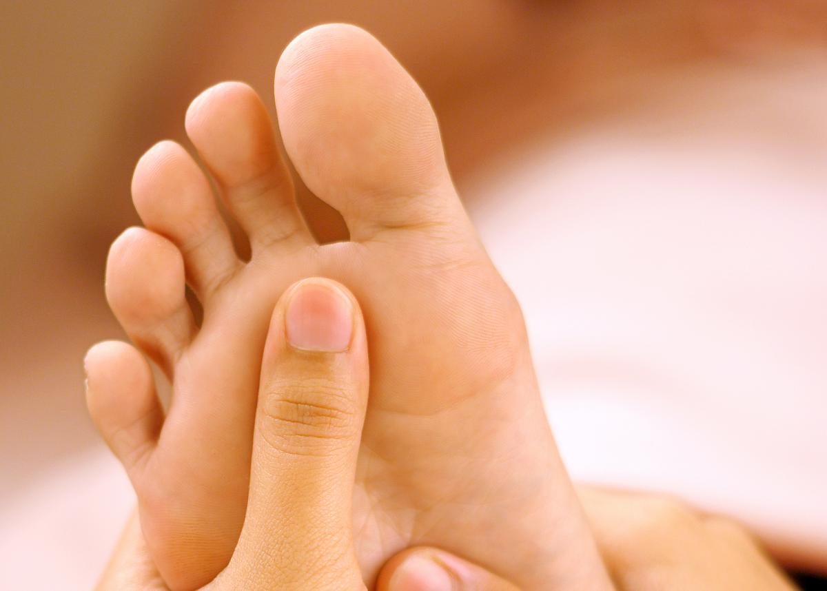 reflexology on feet