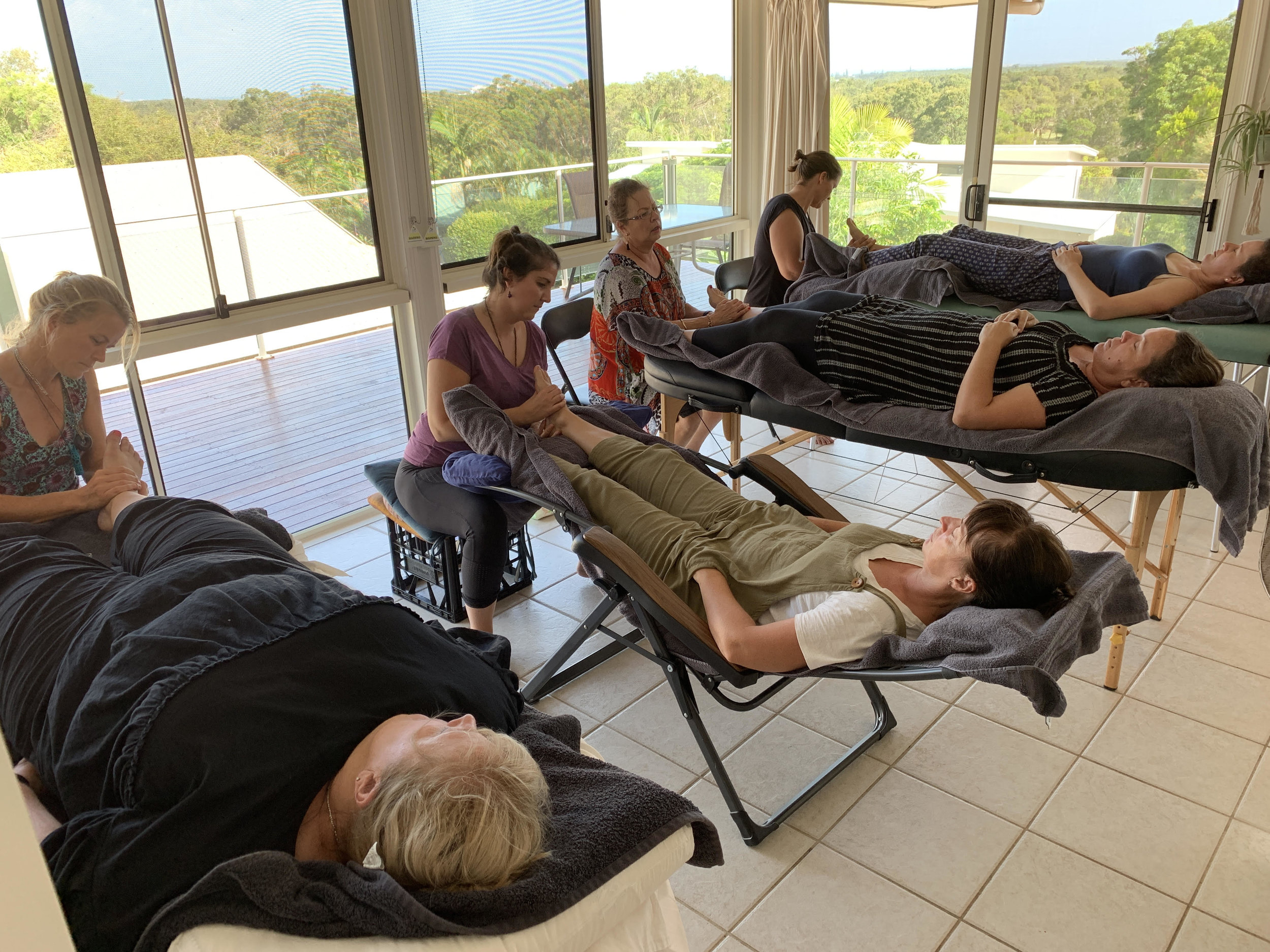 Reflexology Workshop Mt Coolum Feb. 2019