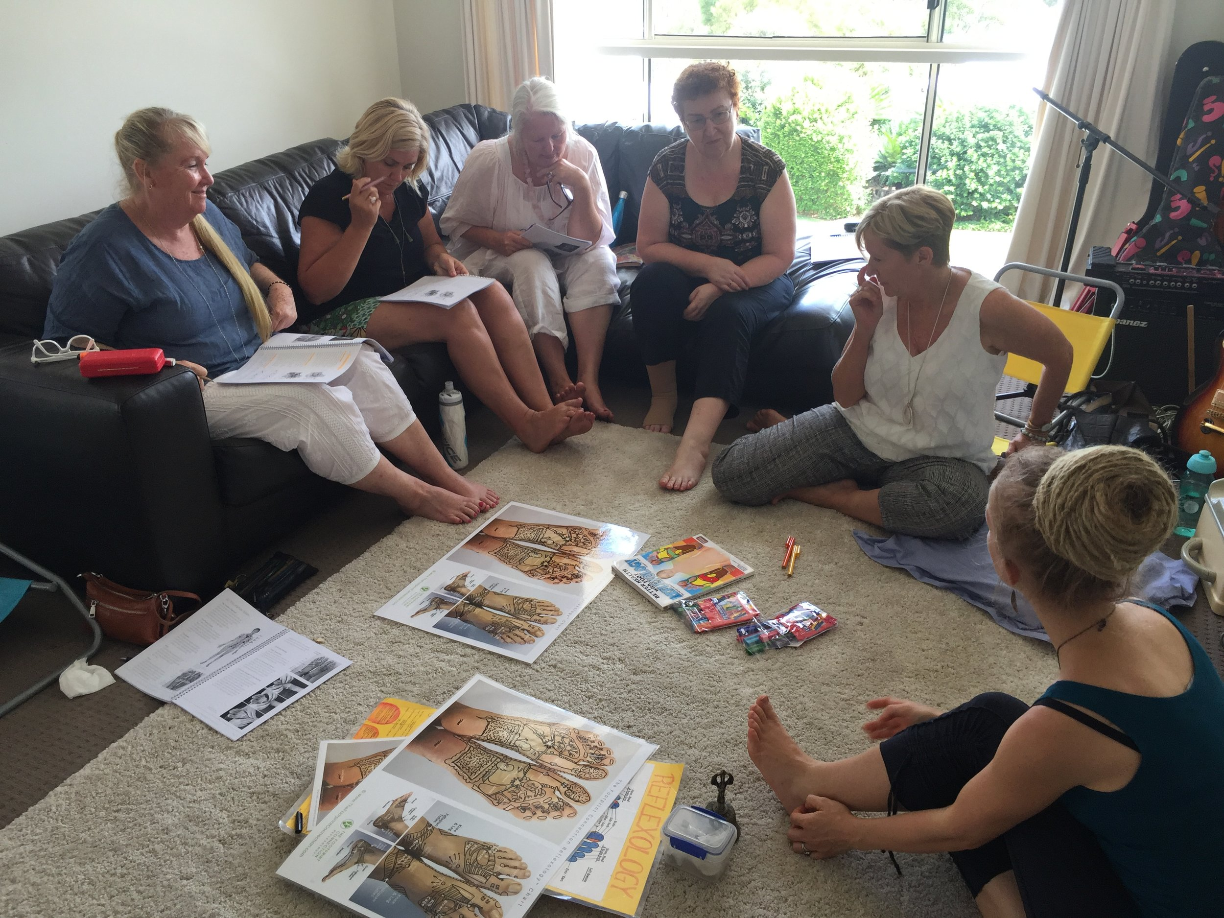 Reflexology Workshop interactions
