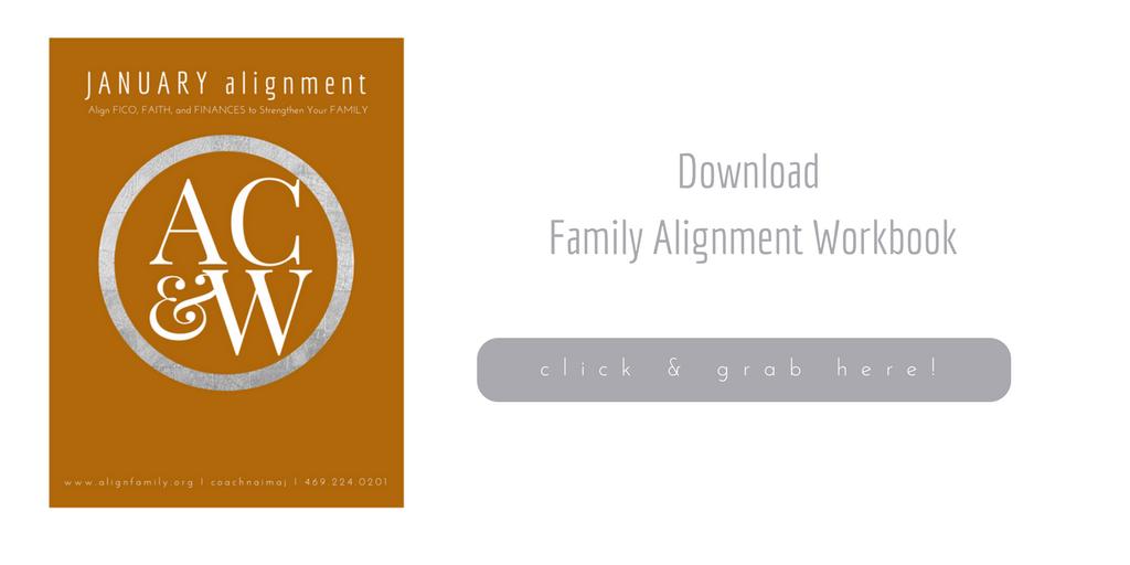 January Family Alignment Workbook 2018