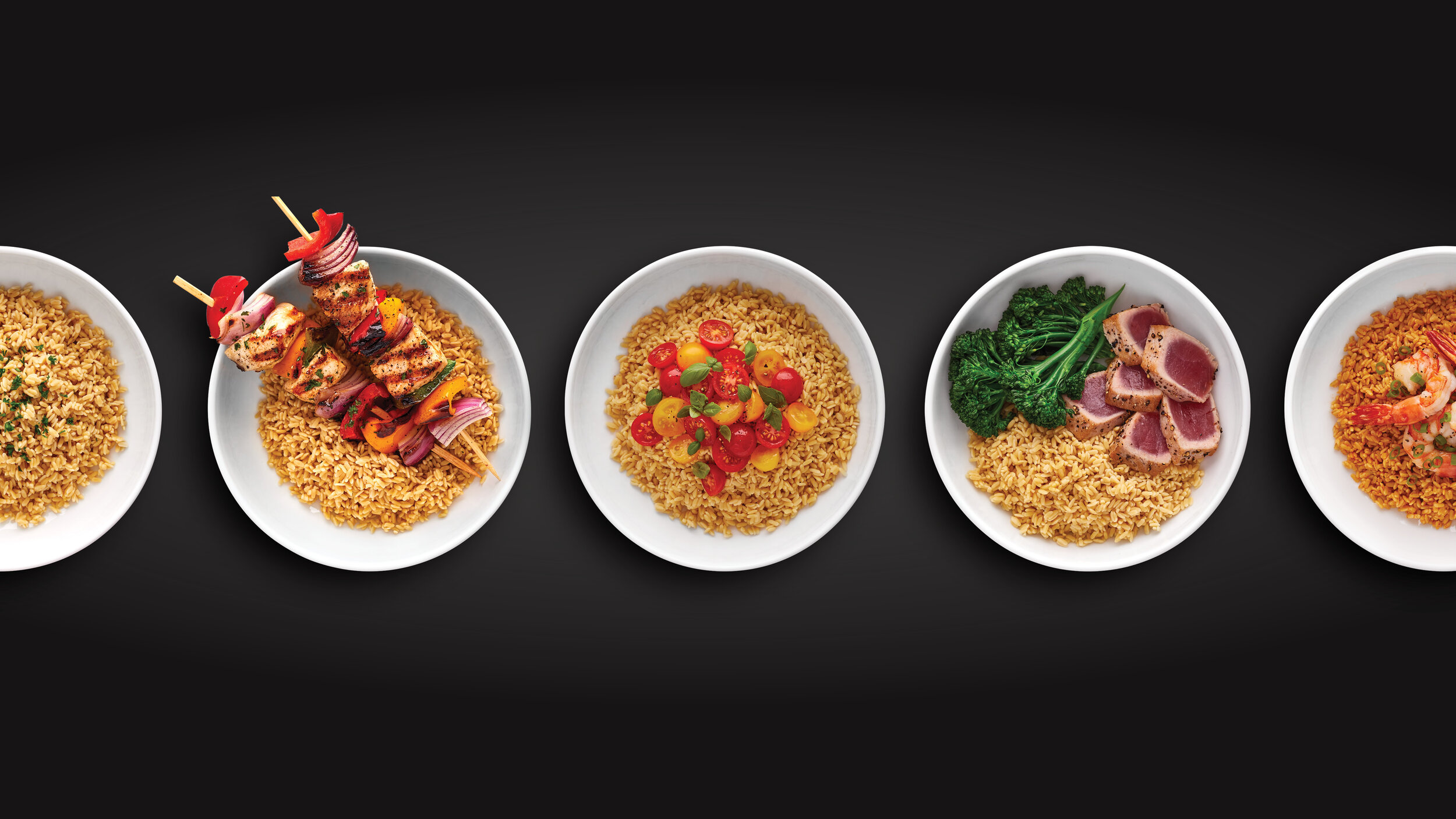 RightRice has more than double the protein, five times the fiber, and 40% fewer net carbs than traditional rice. But the product still tastes and looks like rice, and is faster and easier to cook. The photography we captured celebrates the variety of ways that it can be enjoyed.