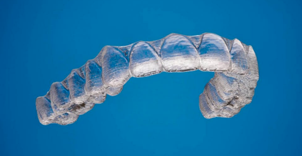 Clear Aligner example of what invisalign tray may look like for a patient