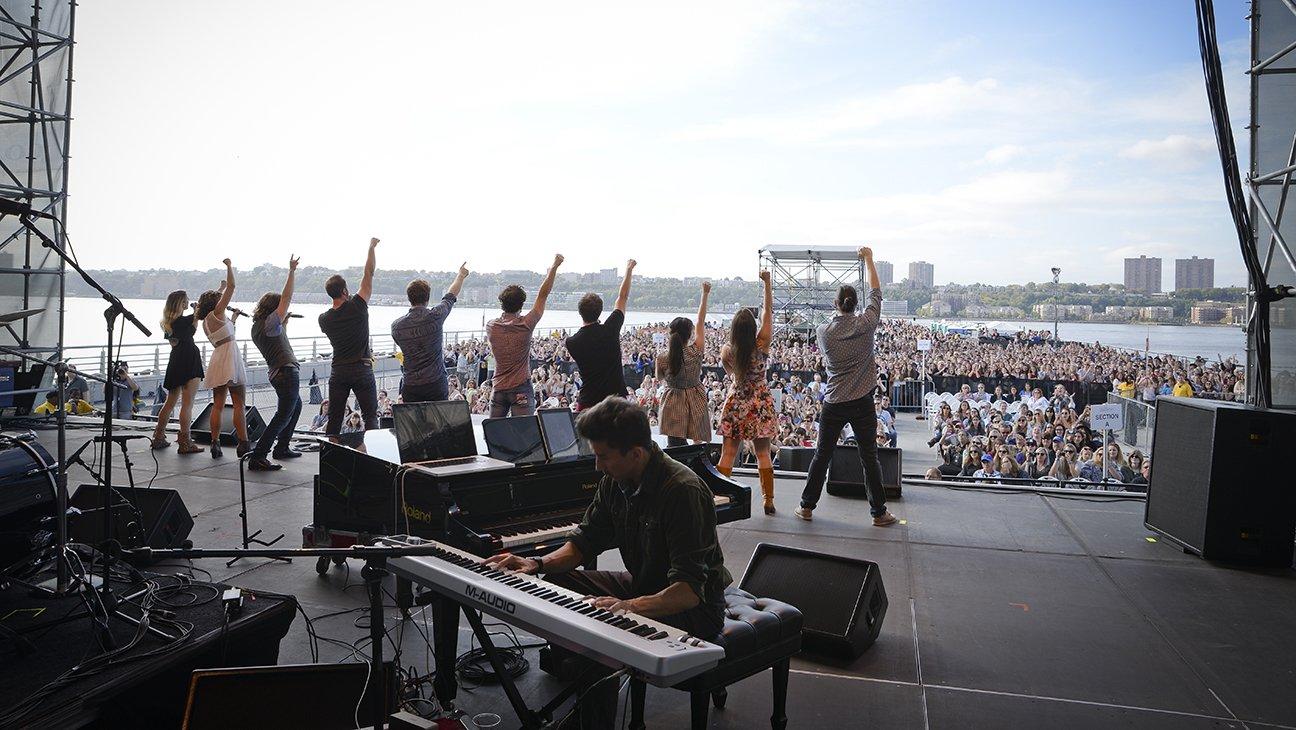 Clark performing with Team StarKid at Elsie Fest