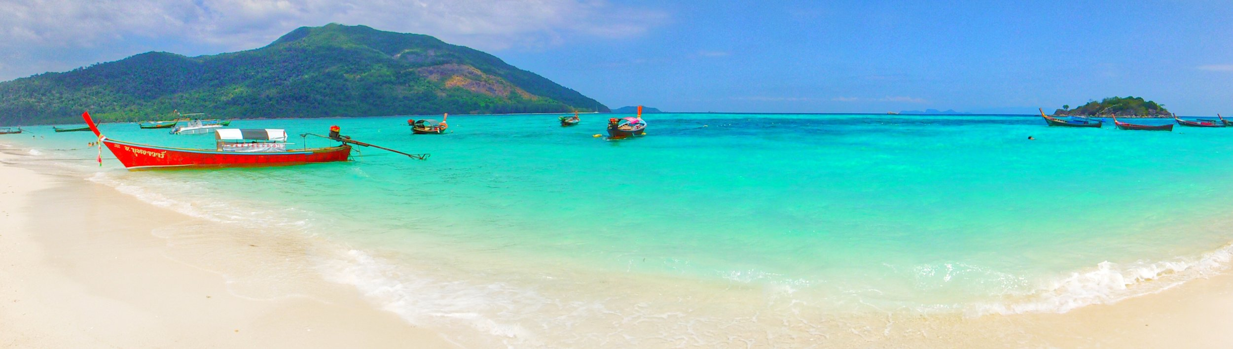 Longtail boats in Koh Lipe Thailand. Thailand's beautiful Andaman Islands.