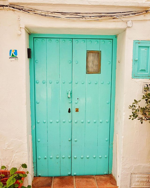 Anyone here have about 200 photos of all types of elegant and bright doors on your phone right now?!⠀ ⠀ 🚪 🚪 🚪 ⠀ ⠀ In my best attempt to be the least intrusive kind of instagramer I quickly snap shots of peoples entranceways I fall in love with and the shots sit on my camera, never seeing the light of the gram/day.⠀ ⠀ So for all my fellow door lovers out there- here are some of the vibrant doors of Frigilana, a small white town in Malaga province, over looking the Mediterranean Sea in the south of Spain.⠀ ⠀ I think I'm so obsessed with doors because they represent the unknown beyond. There's something inspiring about just enjoying the idea of what could lie beyond them, without the satisfaction of opening them. ⠀ 🚪 🌈 🚪 🌈 🚪 🌈