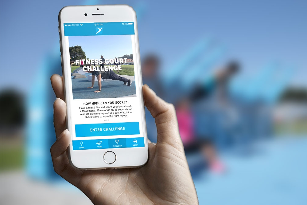 Integrated Mobile App - The Fitness Court's digital delivery system