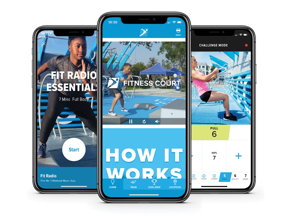 Fitness Court Mobile App - The Fitness Court mobile app for iOS and Android offers coaching, video workout routines and leaderboards to deliver a state-of-the art fitness experience.