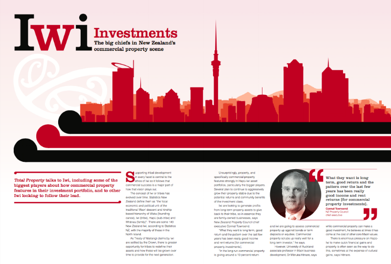 Property feature about Iwi investments                                                                     Total Property magazine