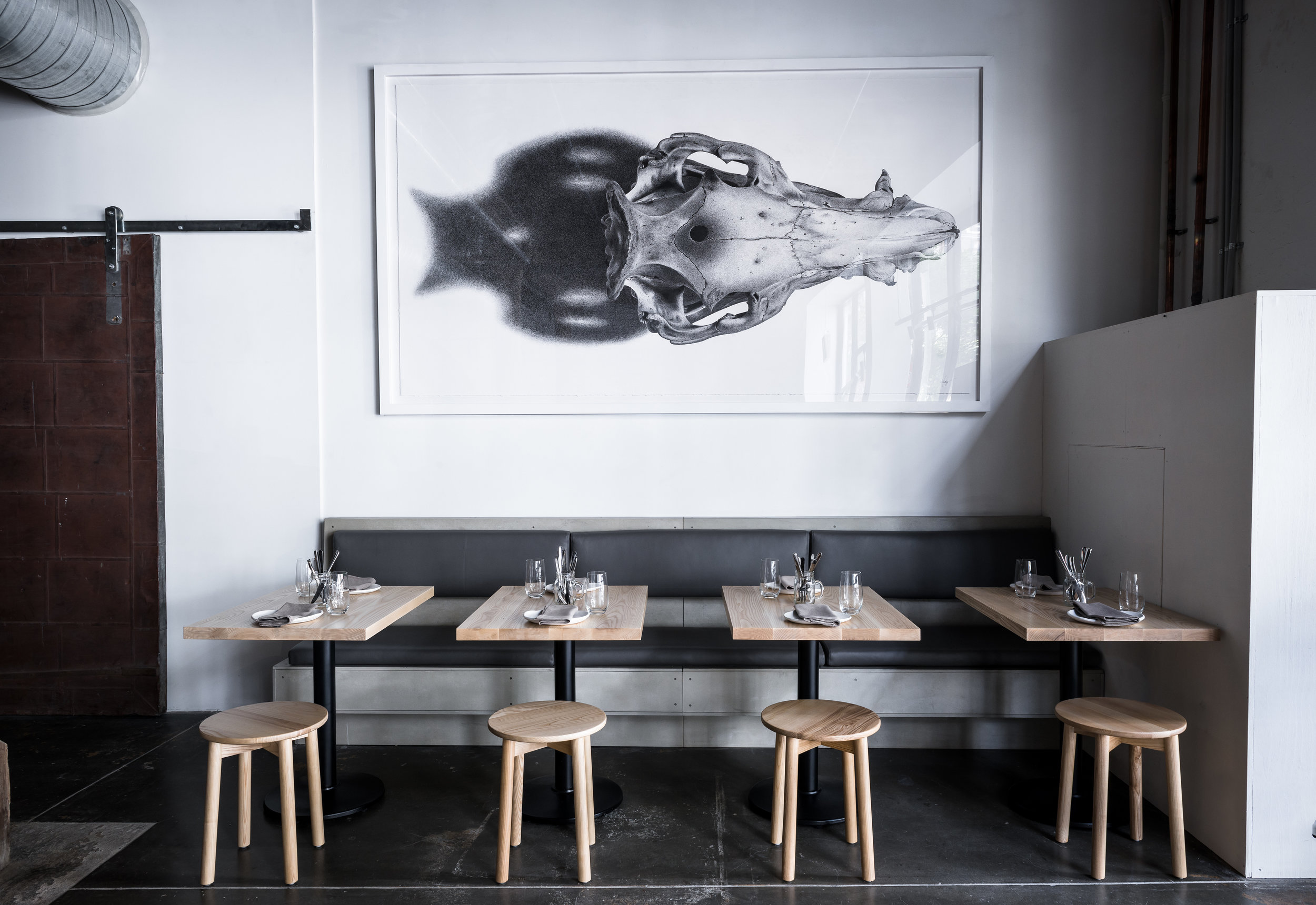 Finished artwork at Nomad in Surry Hills