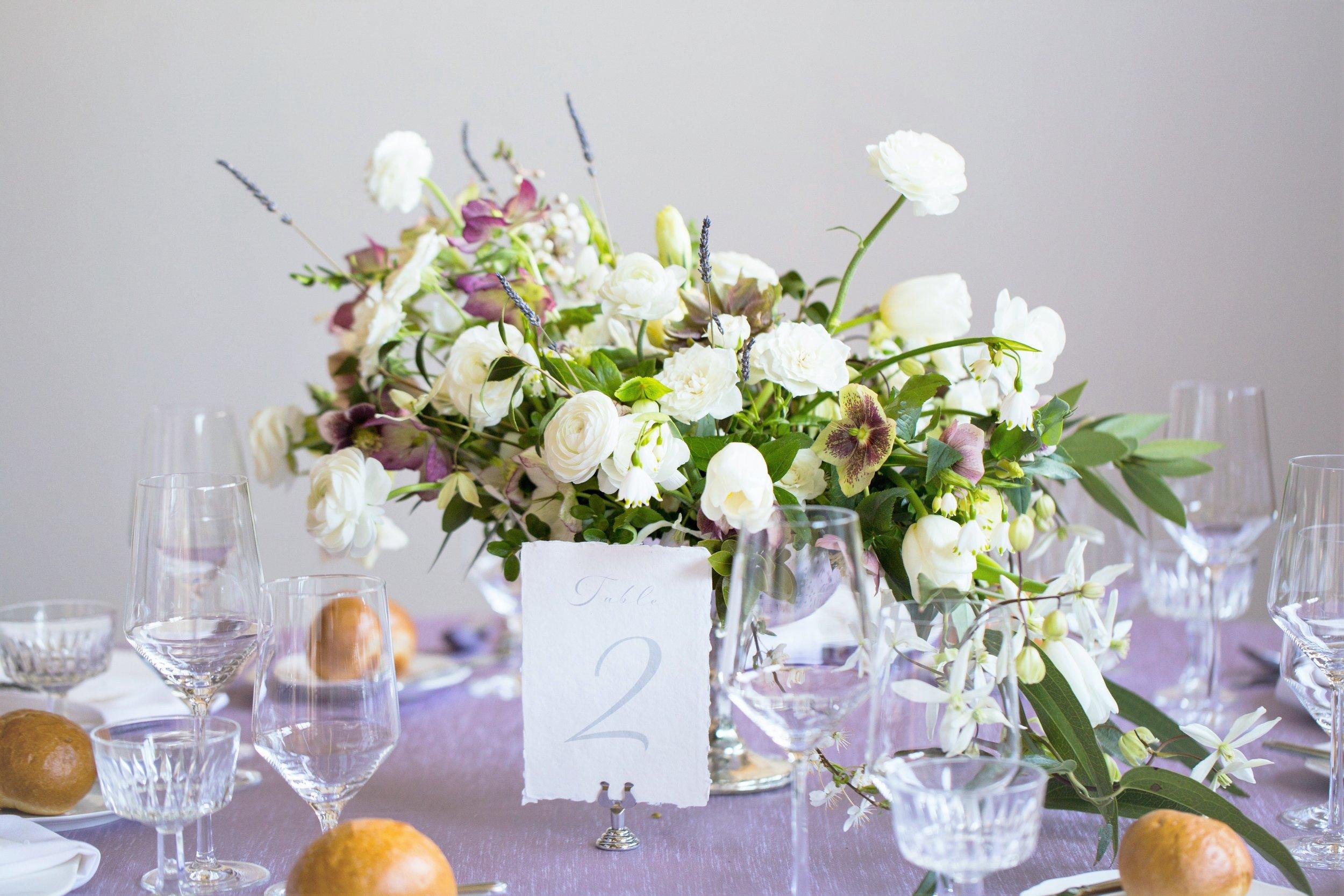 french garden wedding reception table