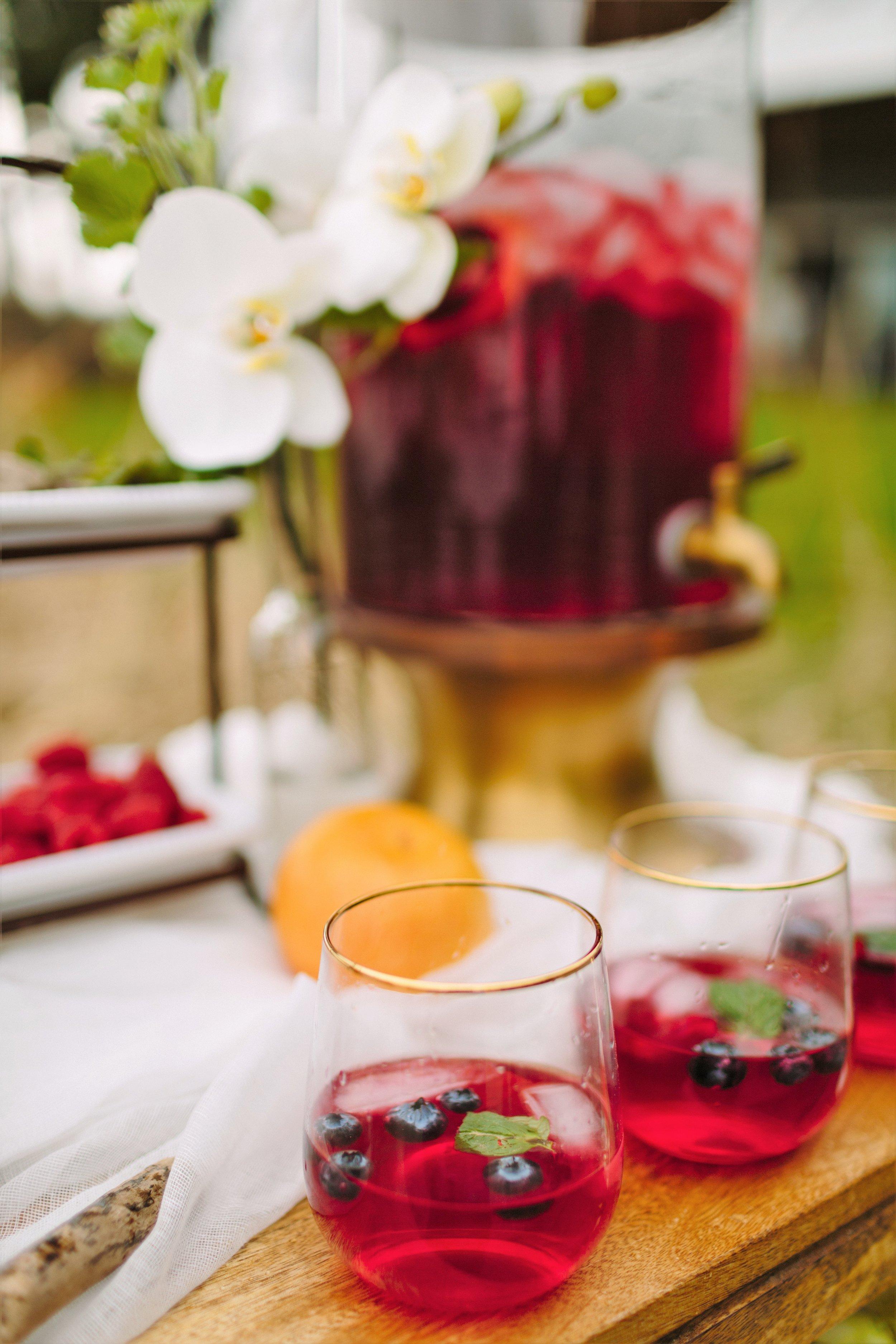 wedding beverage bar