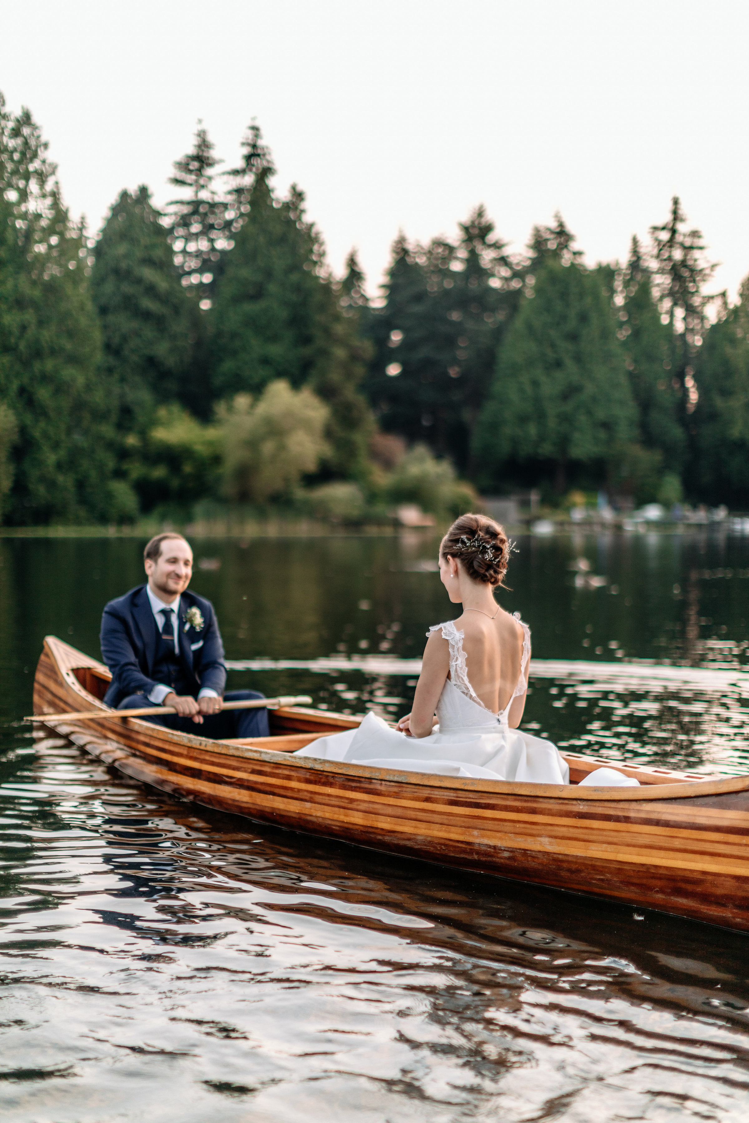 wedding canoe photos