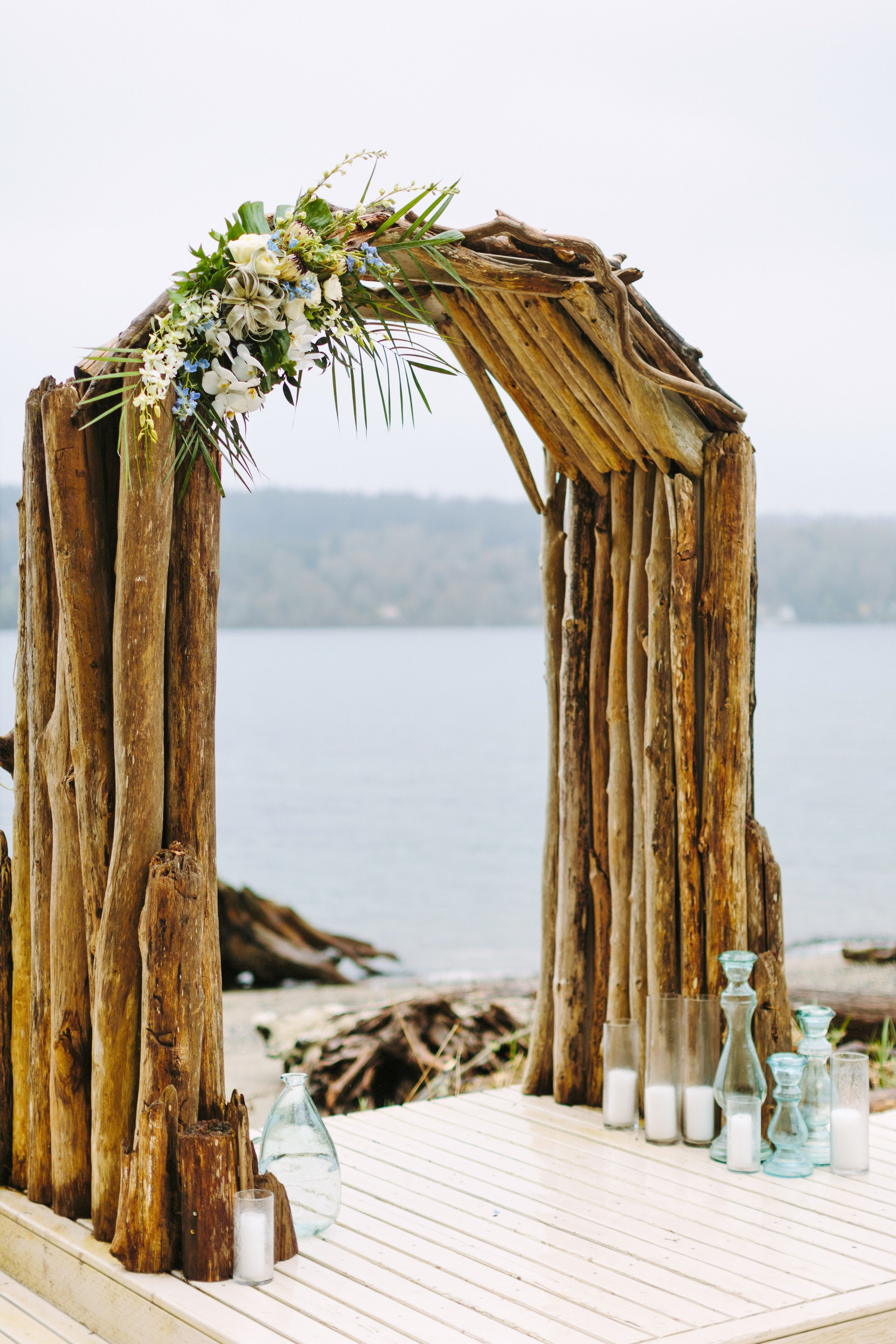 driftwood ceremony arch
